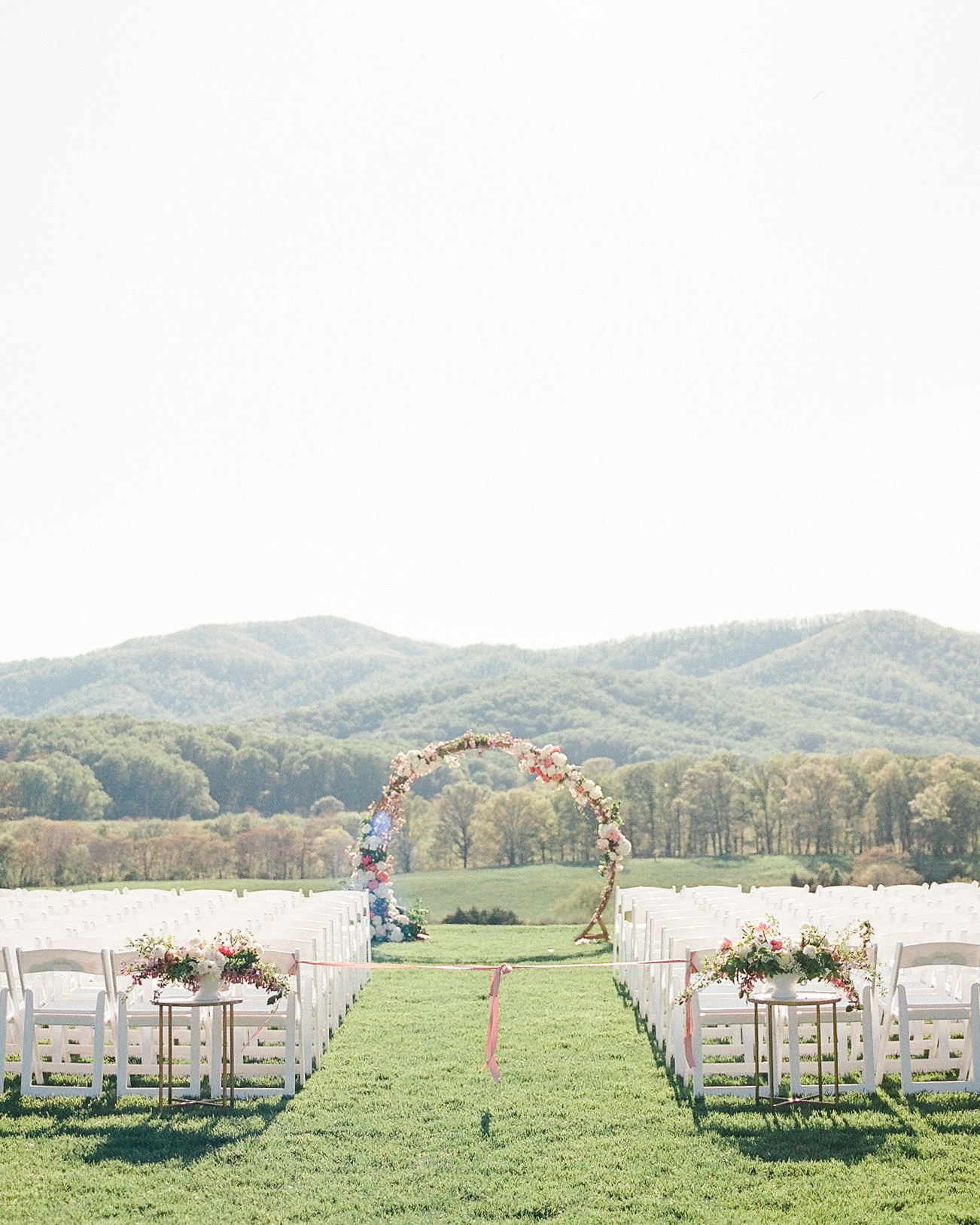 mechelle julia wedding outdoor ceremony site