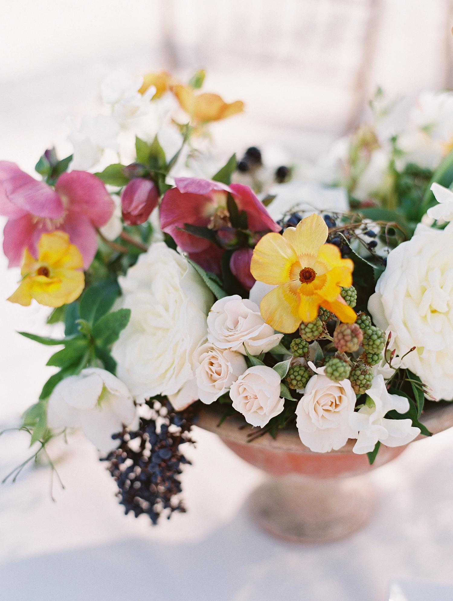 beth john wedding floral centerpiece