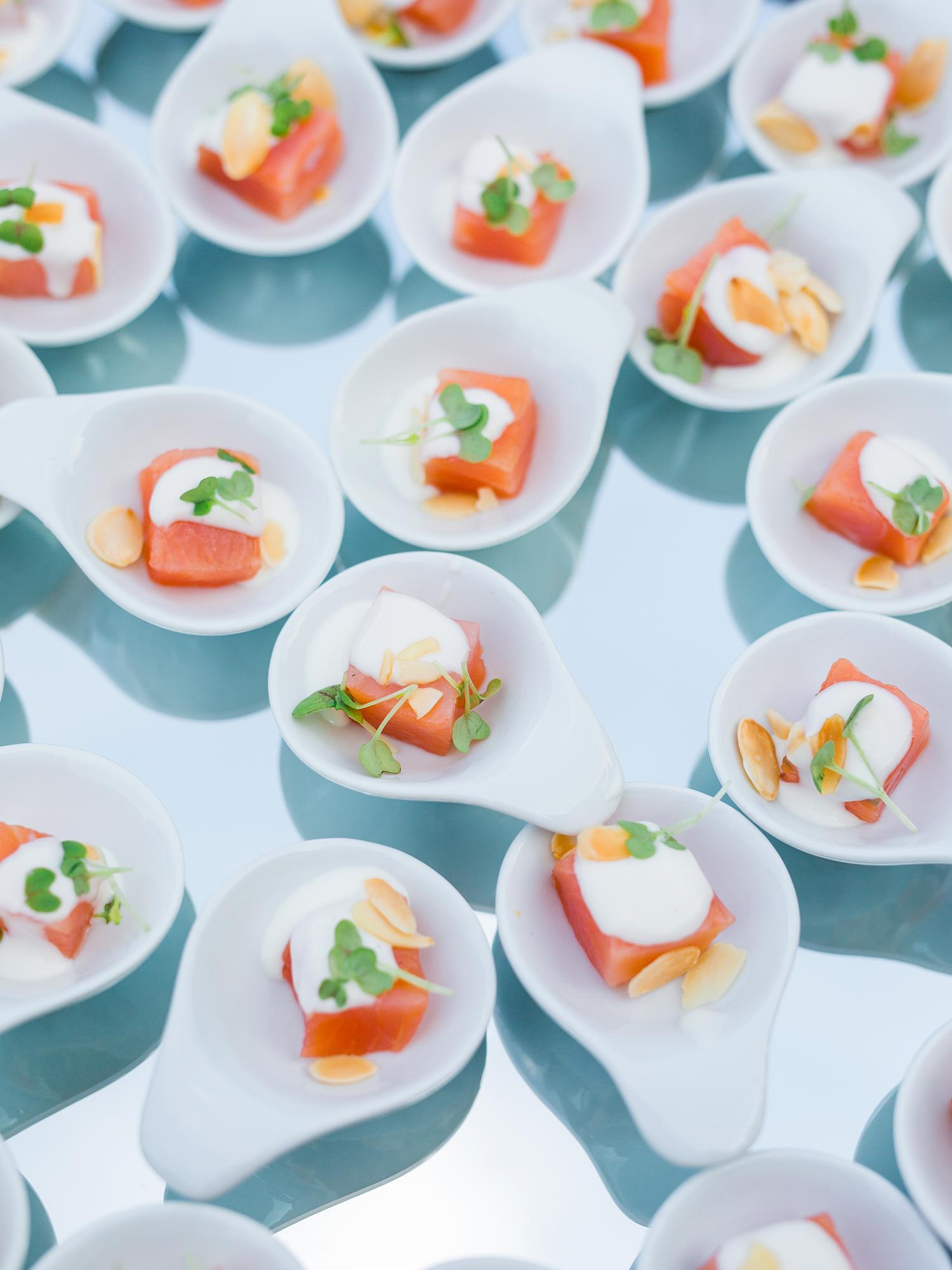 julia mauro wedding appetizers fish