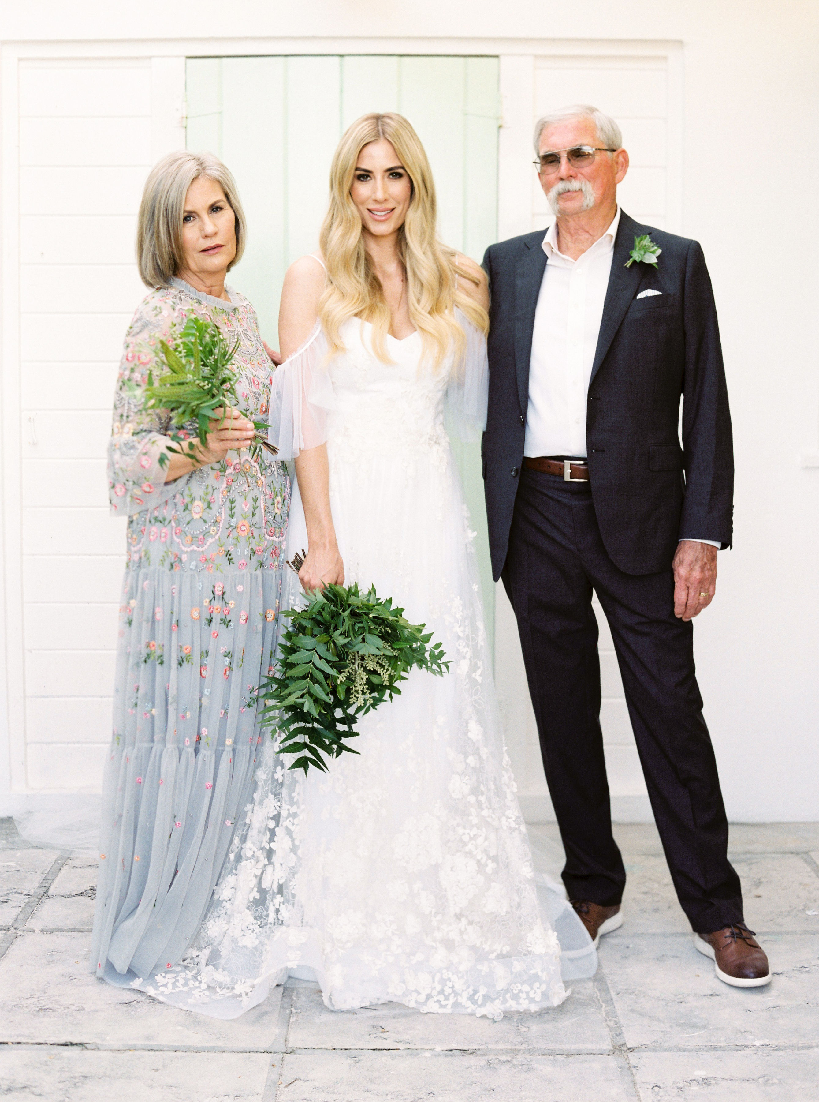 Elizabeth with her parents