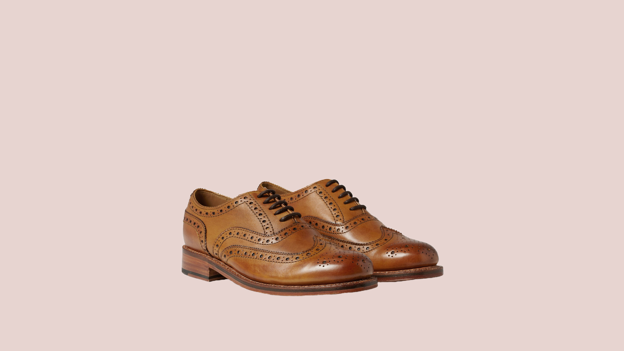 "Grenson ""Stanley"" Leather Wingtip Brogues"