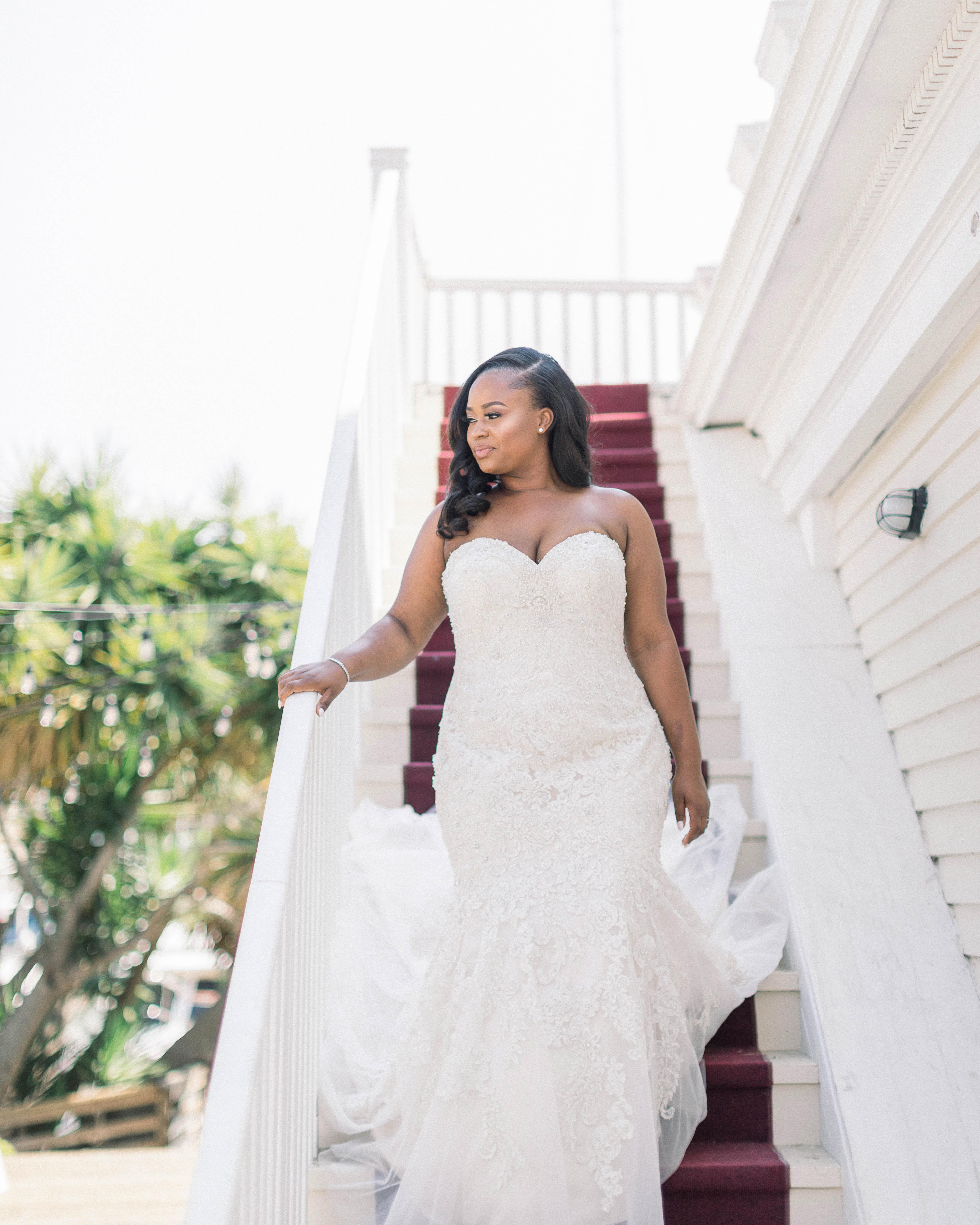 wedding bride stairway processional