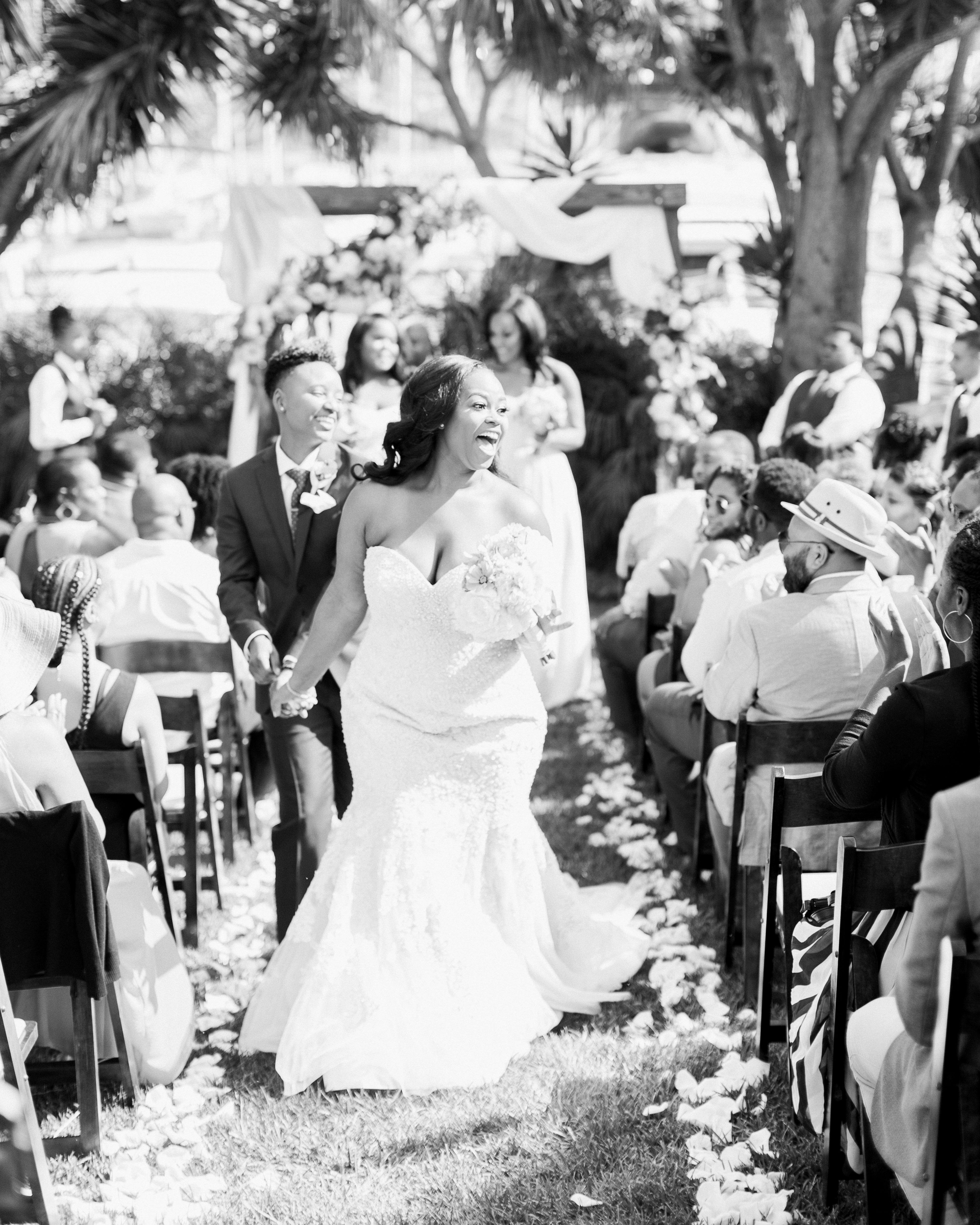outdoor wedding ceremony recessional