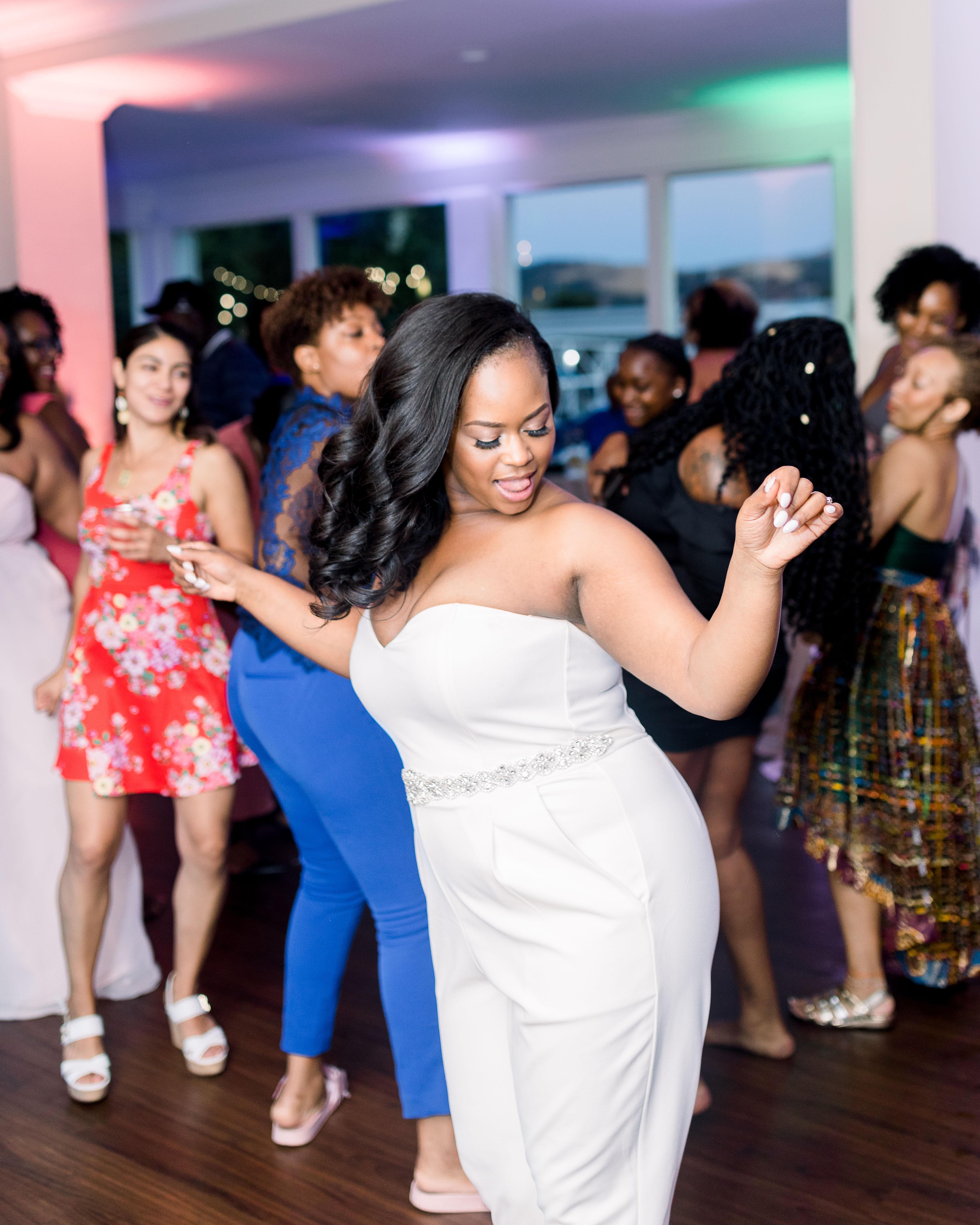bride guests wedding reception dance