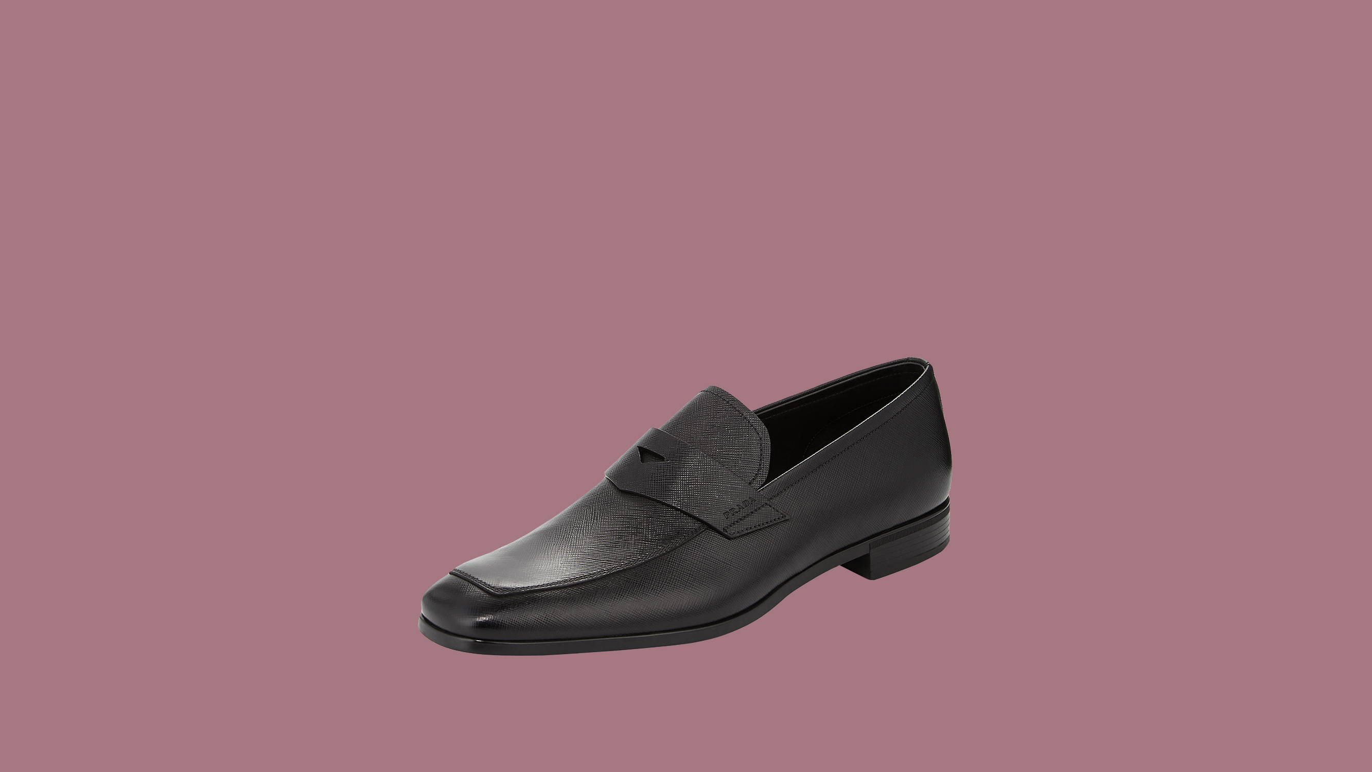 "Prada ""Saffiano"" Leather Penny Loafers"