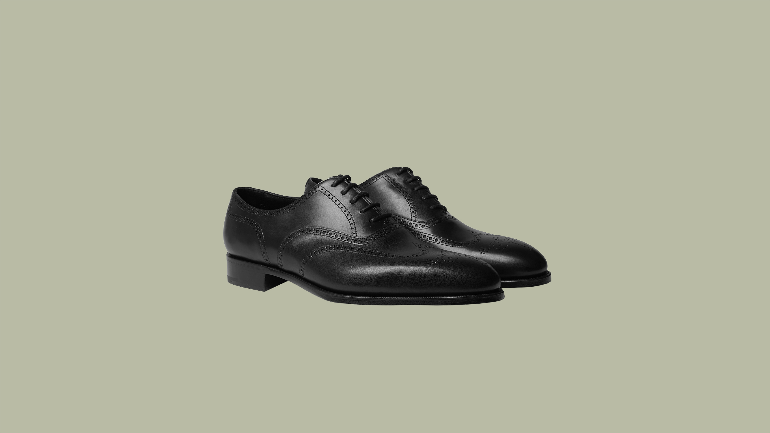 "Edward Green ""Inverness"" Leather Wingtip Brogues"