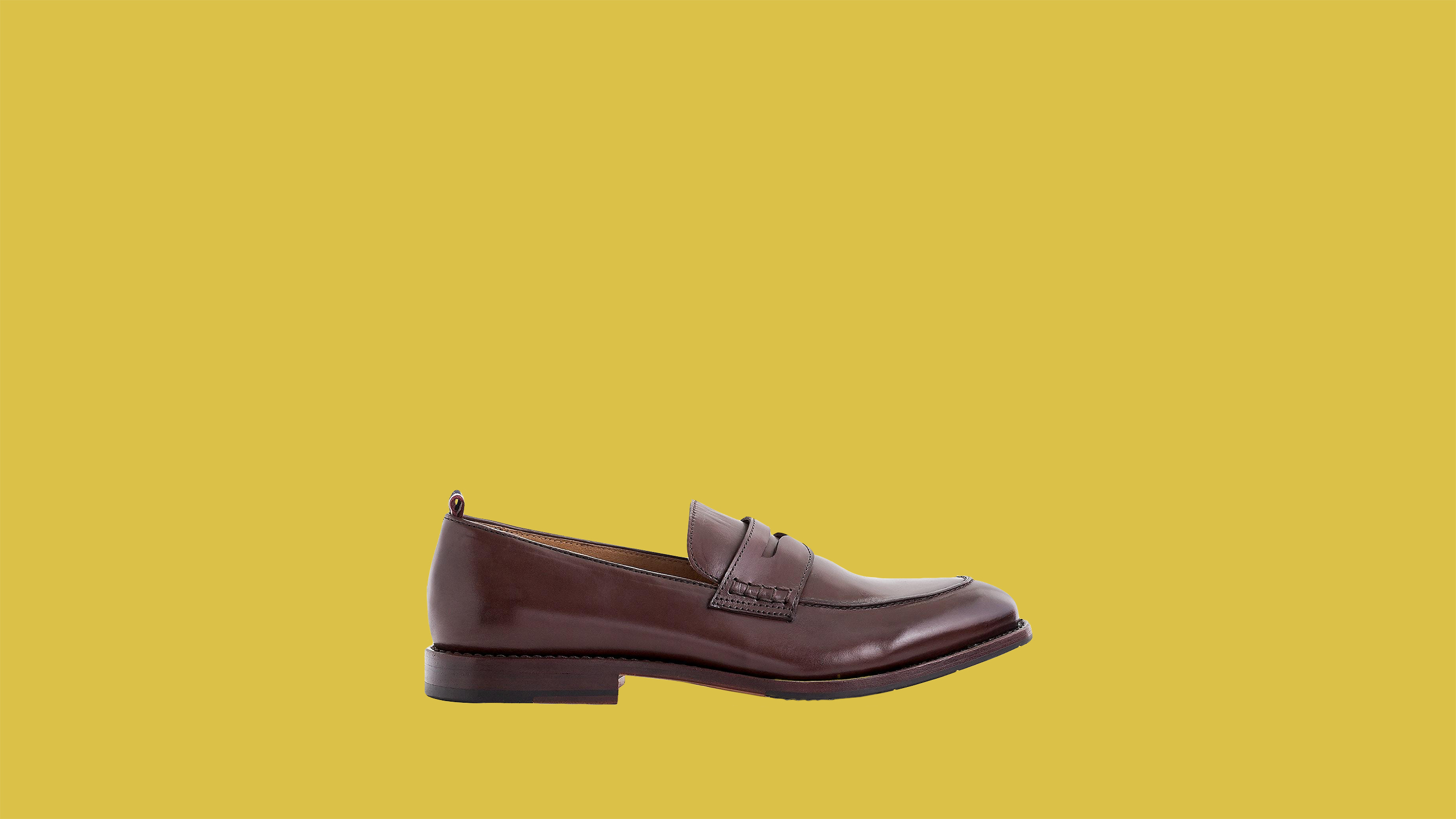 "J. Crew ""Oar Stripe"" Penny Loafers in Italian Leather"