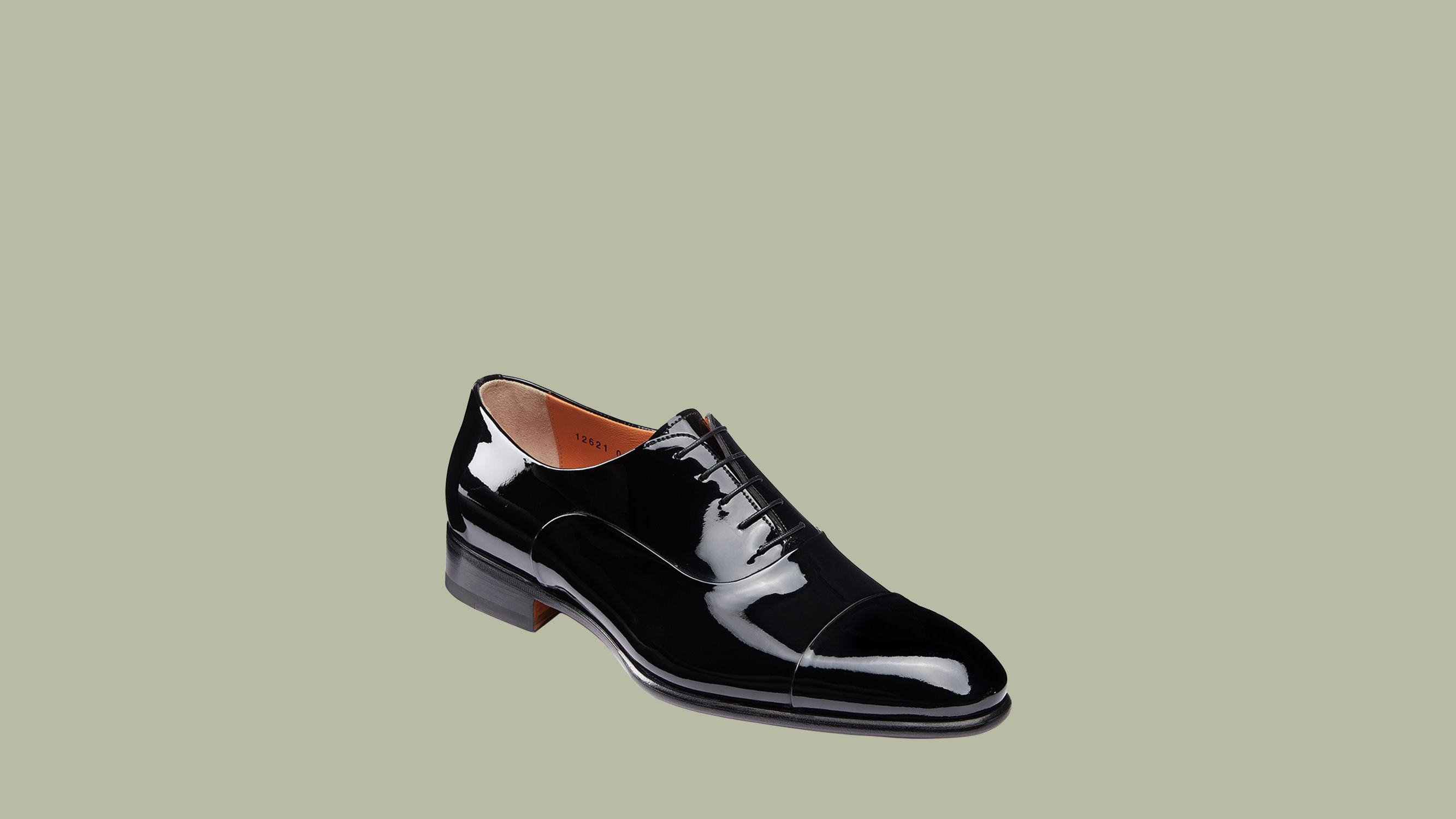 "Santoni ""Isaac"" Patent Leather Lace-Up Shoes"
