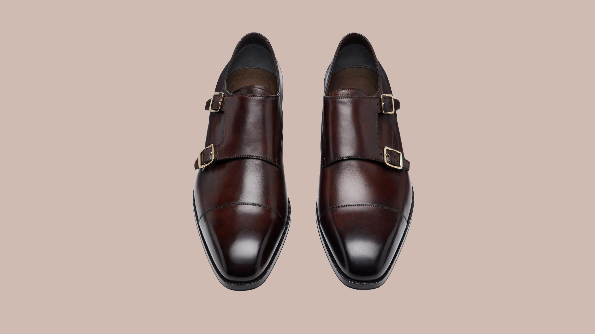 "Tom Ford Burnished ""Elkan"" Double Monk Strap Shoes"