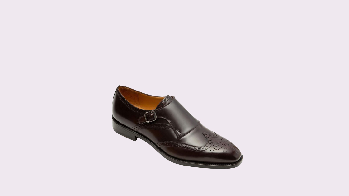 "Paul Stewart ""Harling"" Brogue Monk-Strap Shoes"