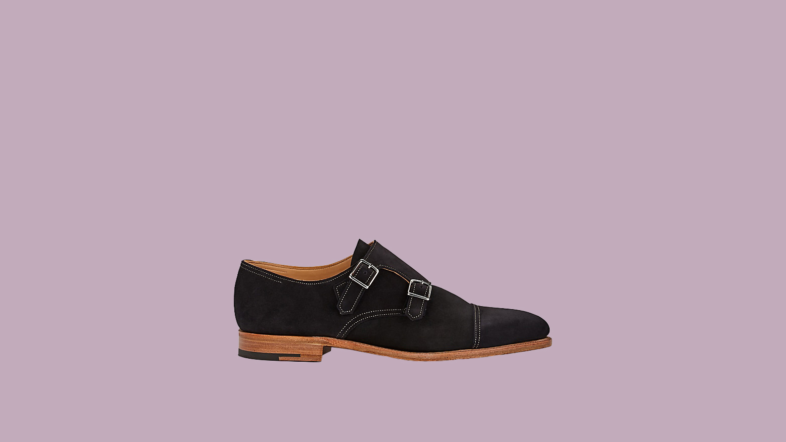 "John Lobb ""William"" Suede Double Monk-Strap Shoes"