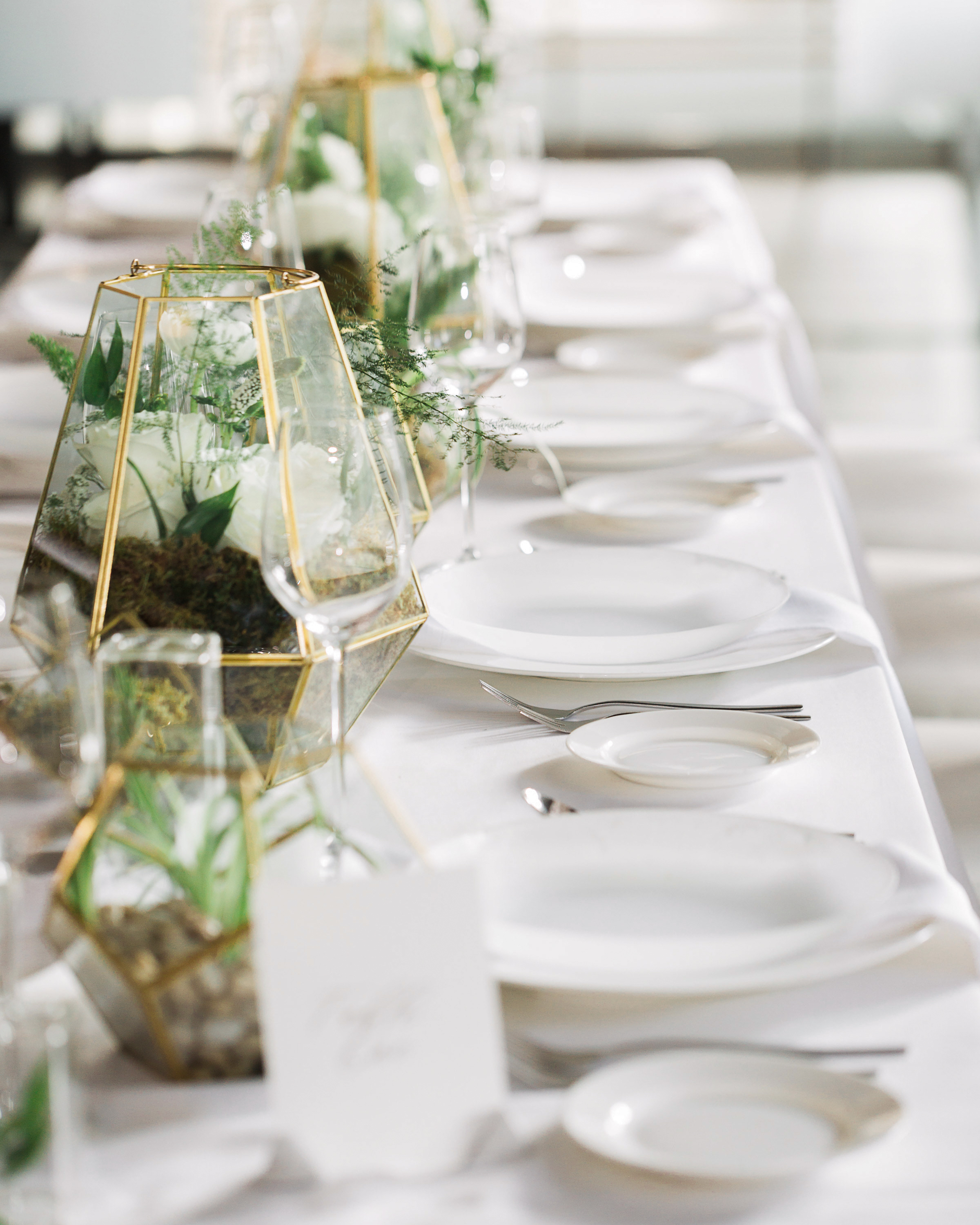 terrarium wedding ideas multiple centerpieces