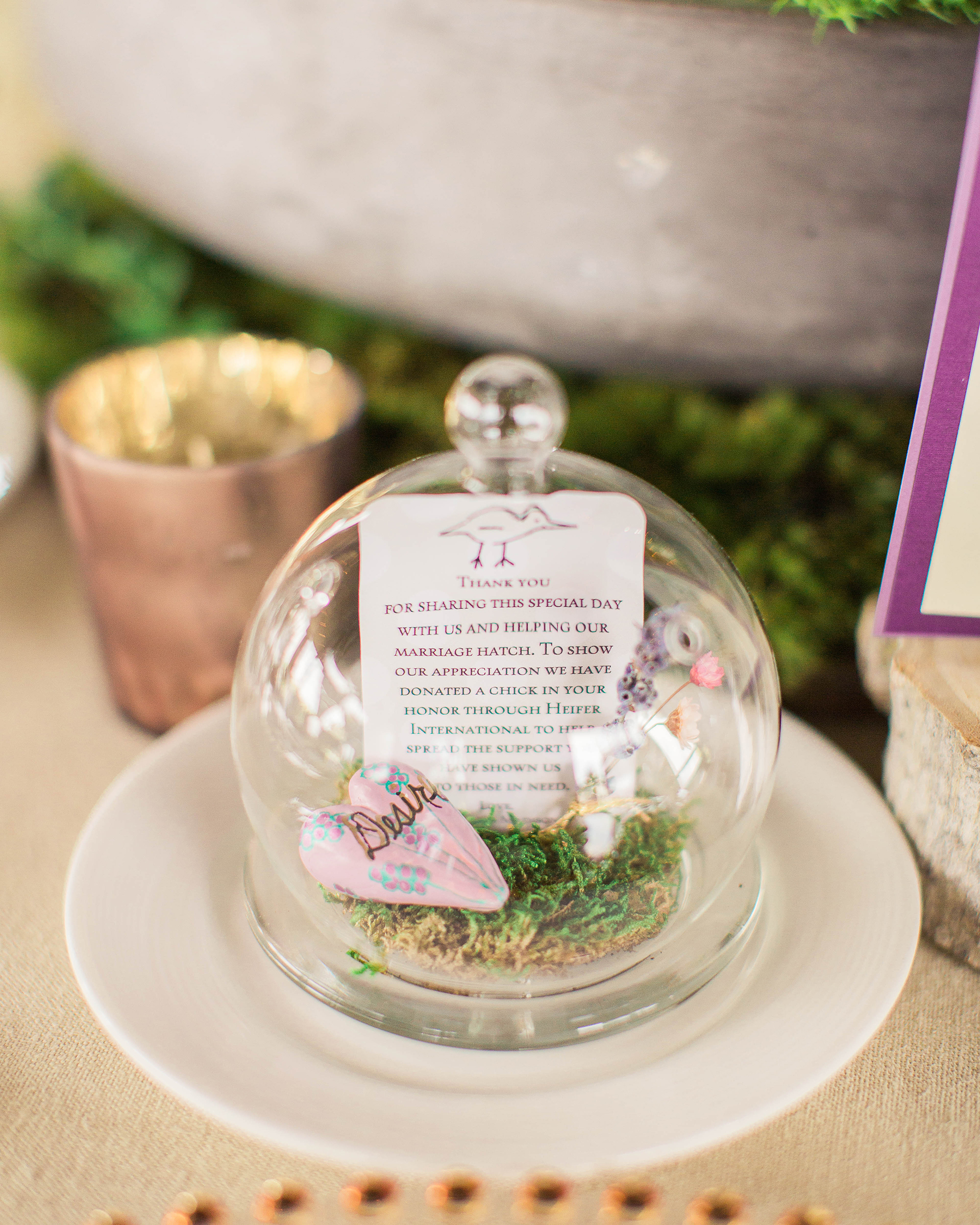 terrarium wedding ideas favor cards