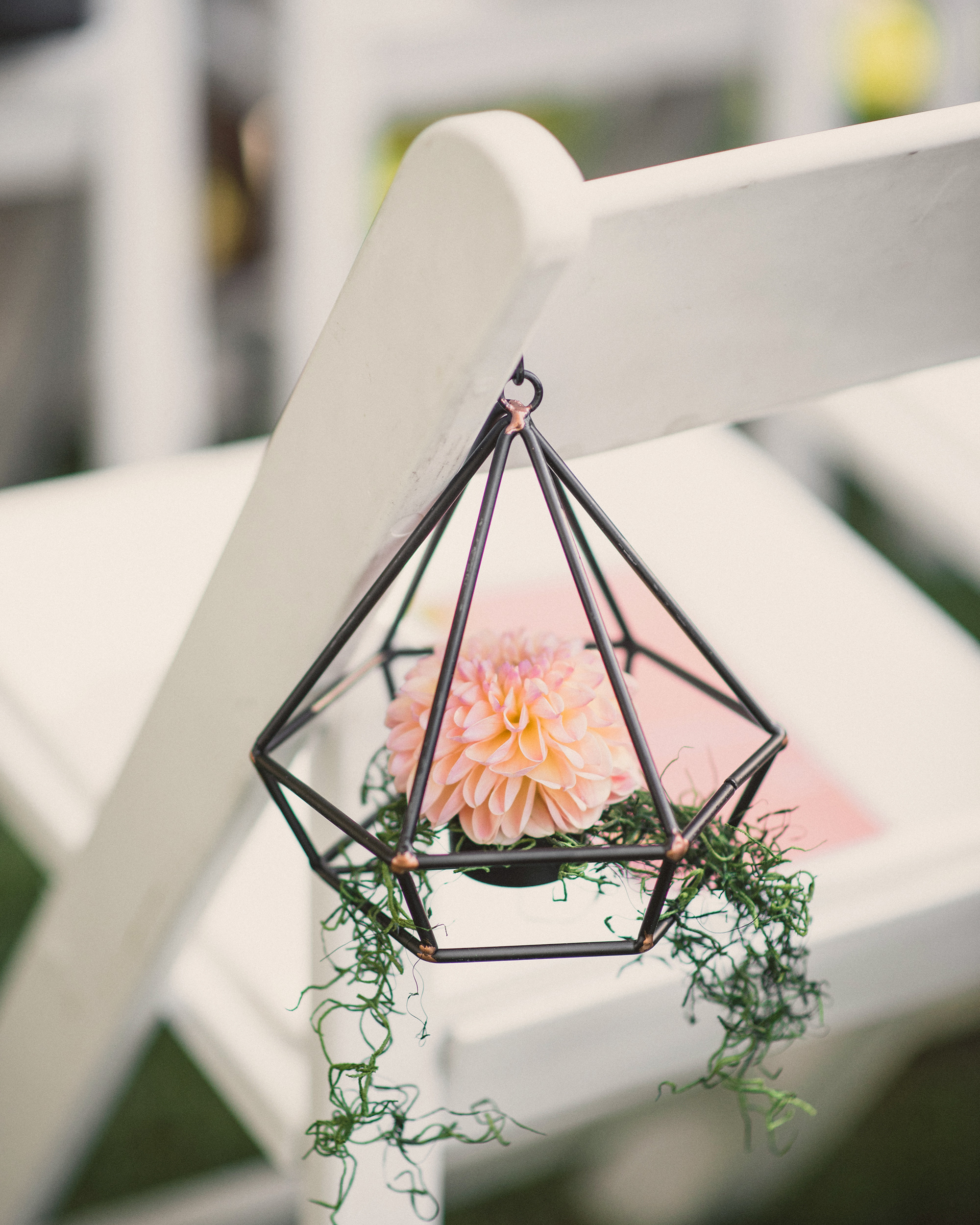 terrarium wedding ideas chair decor
