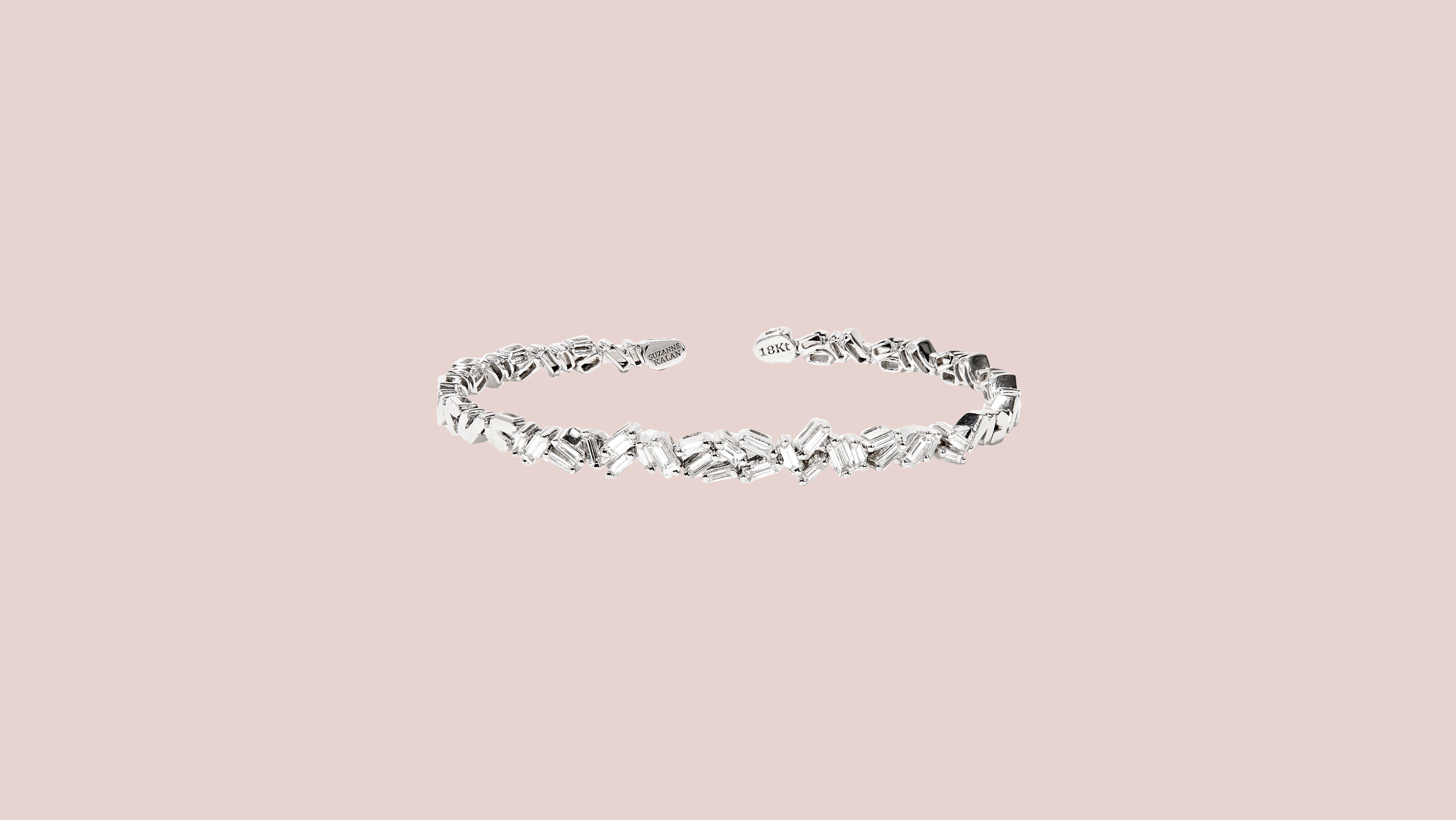 Suzanne Kalan 18-karat White Gold Diamond Cuff