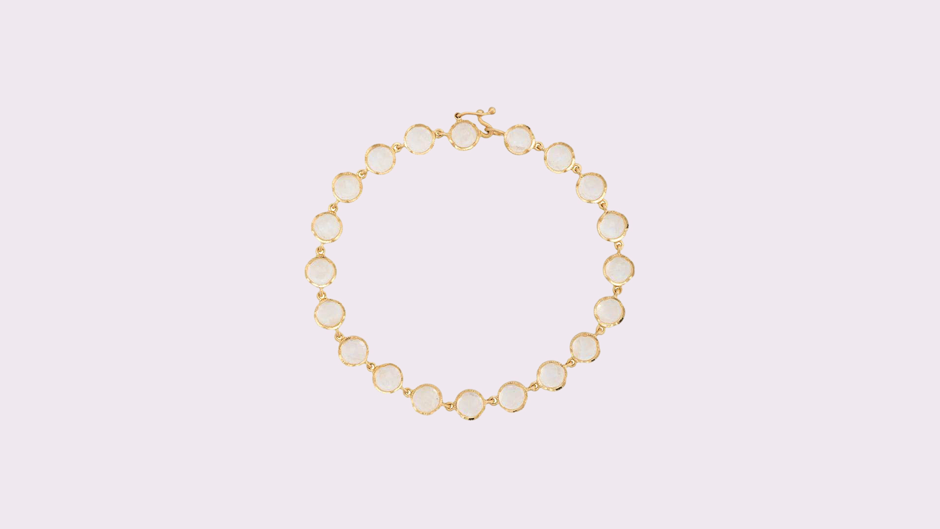 Irene Neuwirth Rainbow Moonstone and 18-karat Gold Bracelet