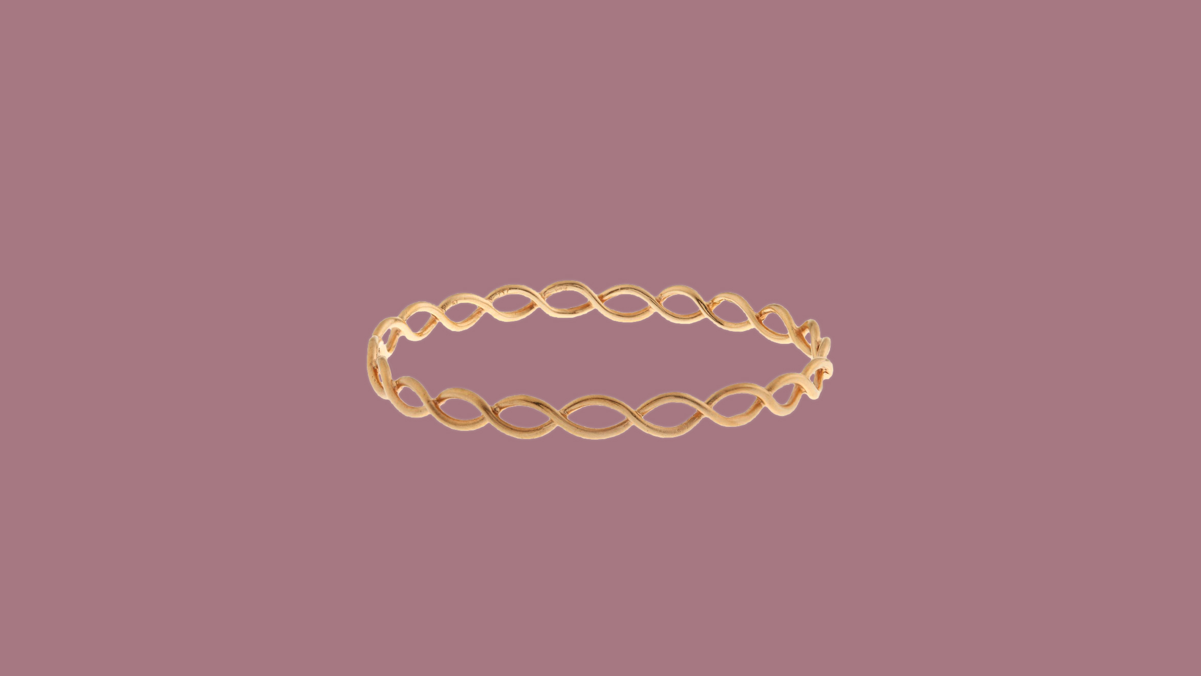 Irene Neuwirth Rose Gold Braided Bangle