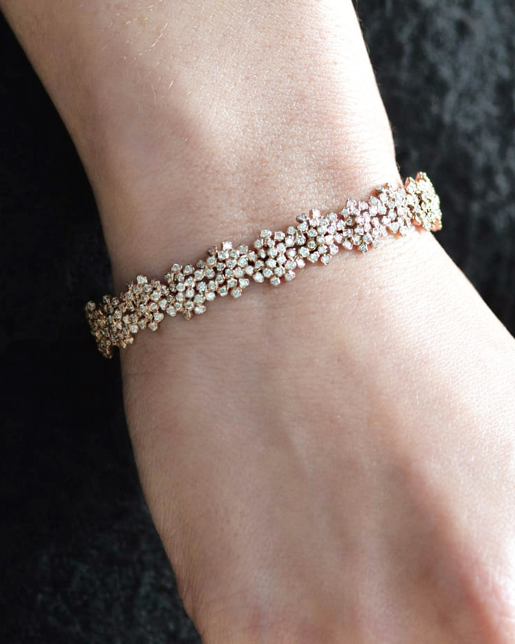 Kataoka Diamond Cluster Bangle