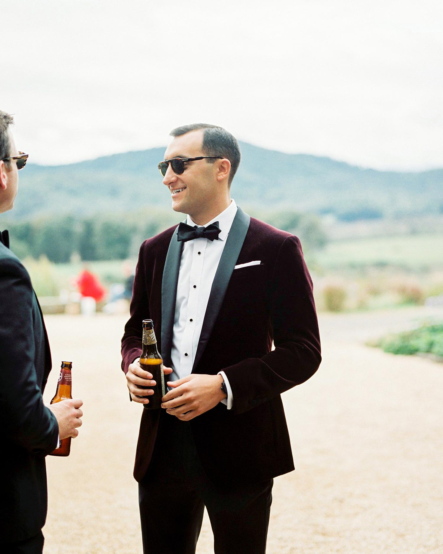 burgundy dinner jacket wedding tuxedo
