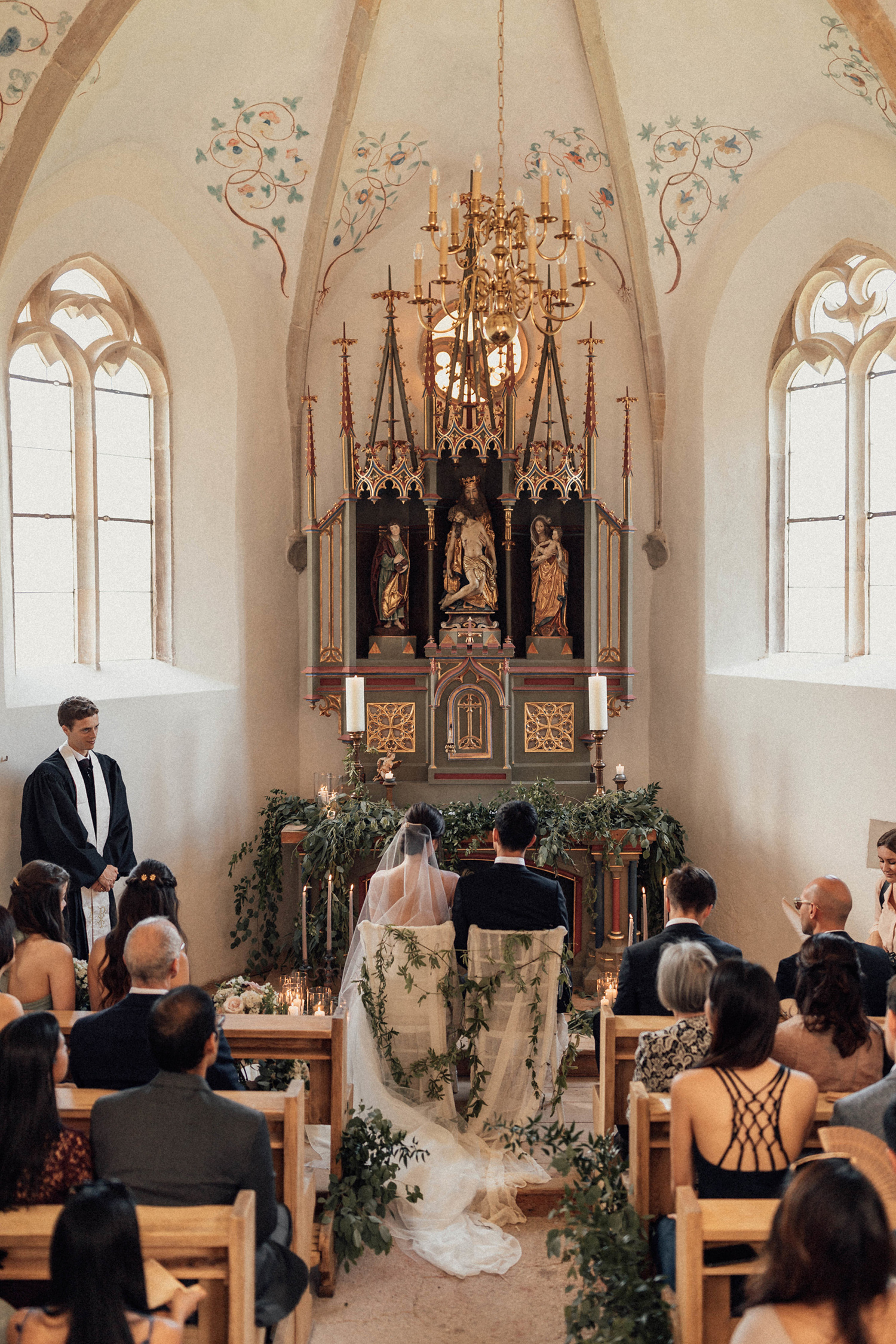 natalie paul wedding ceremony chapel couple