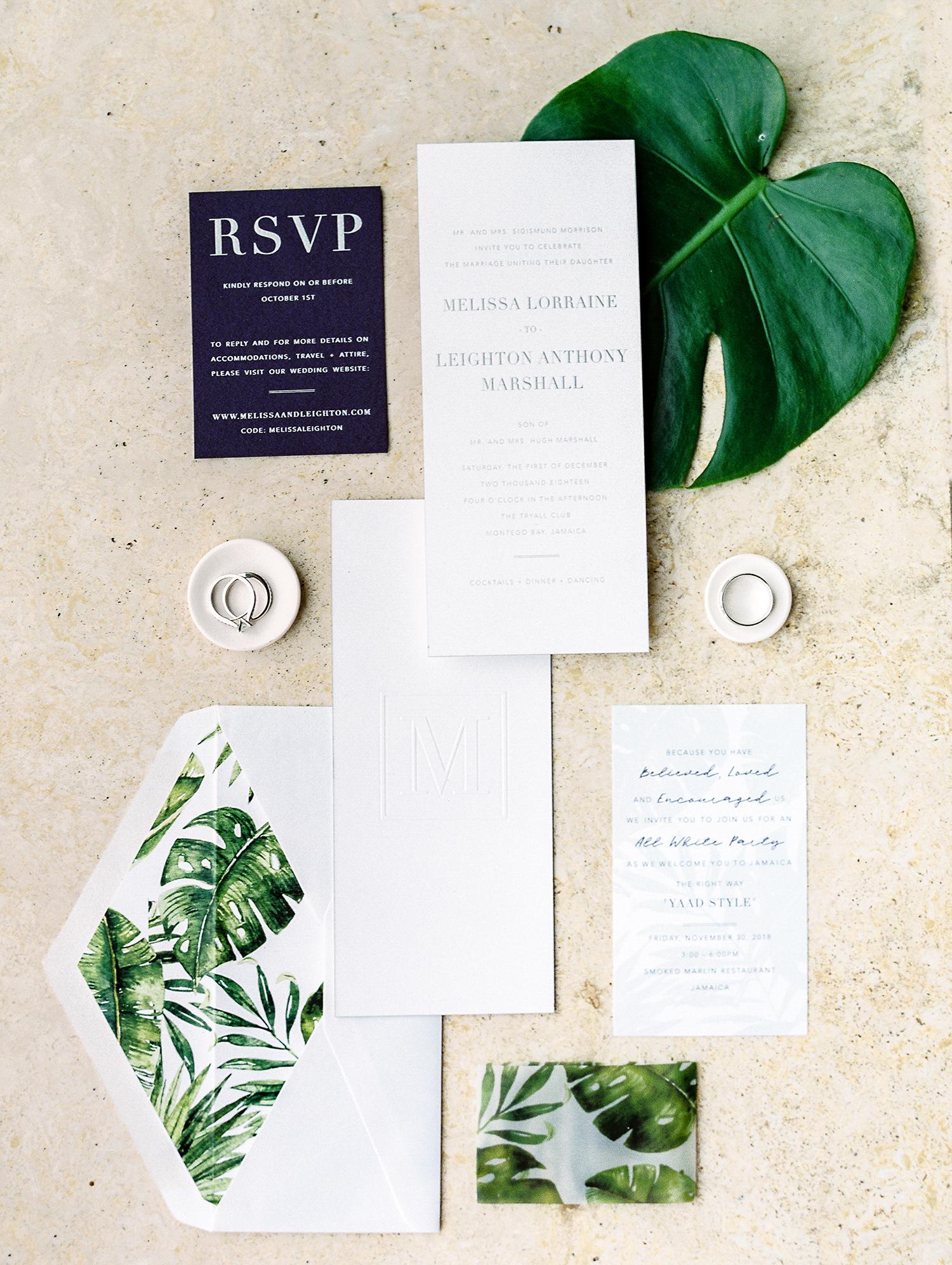 melissa leighton wedding green black and white invites