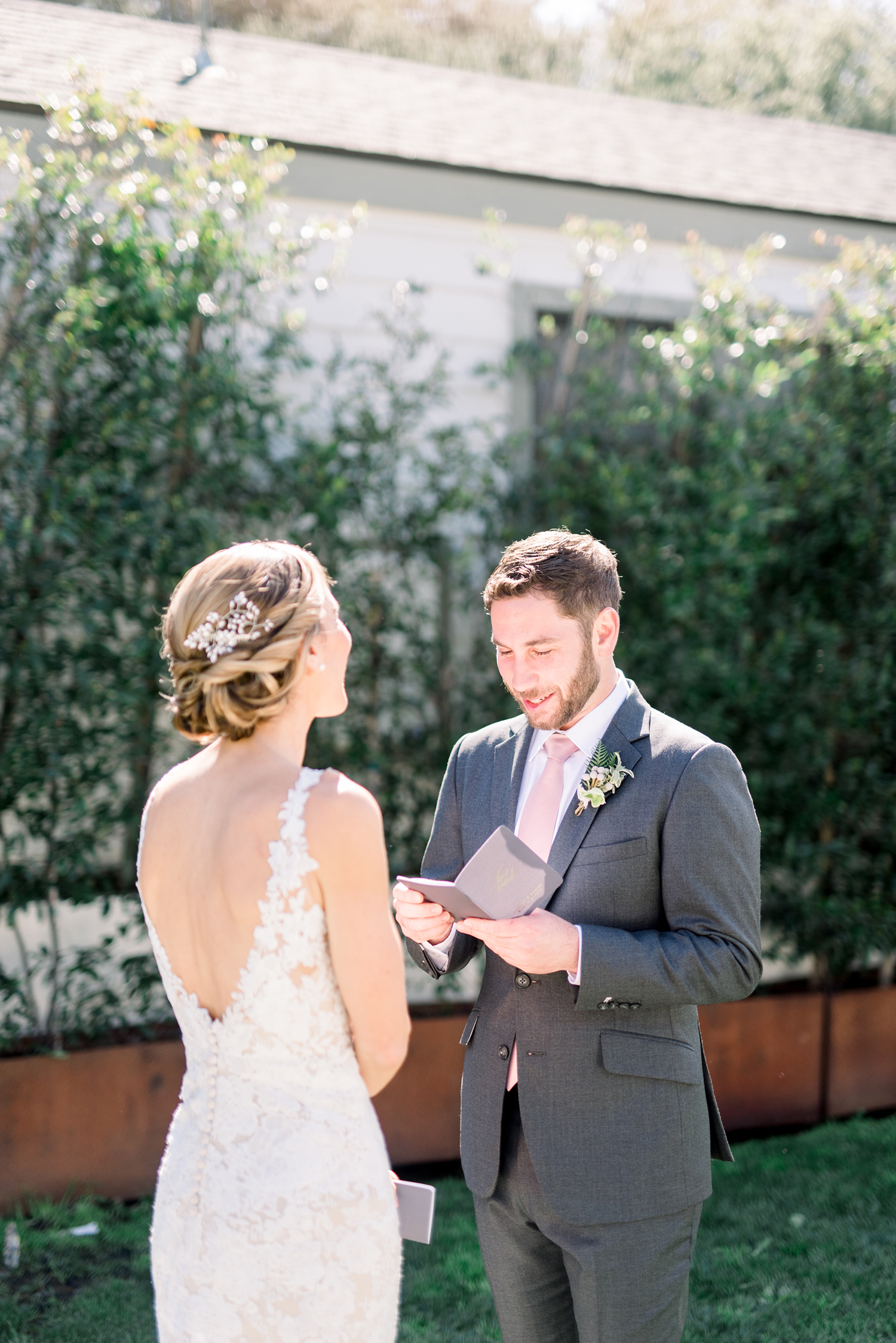 lauren aaron wedding first look couple