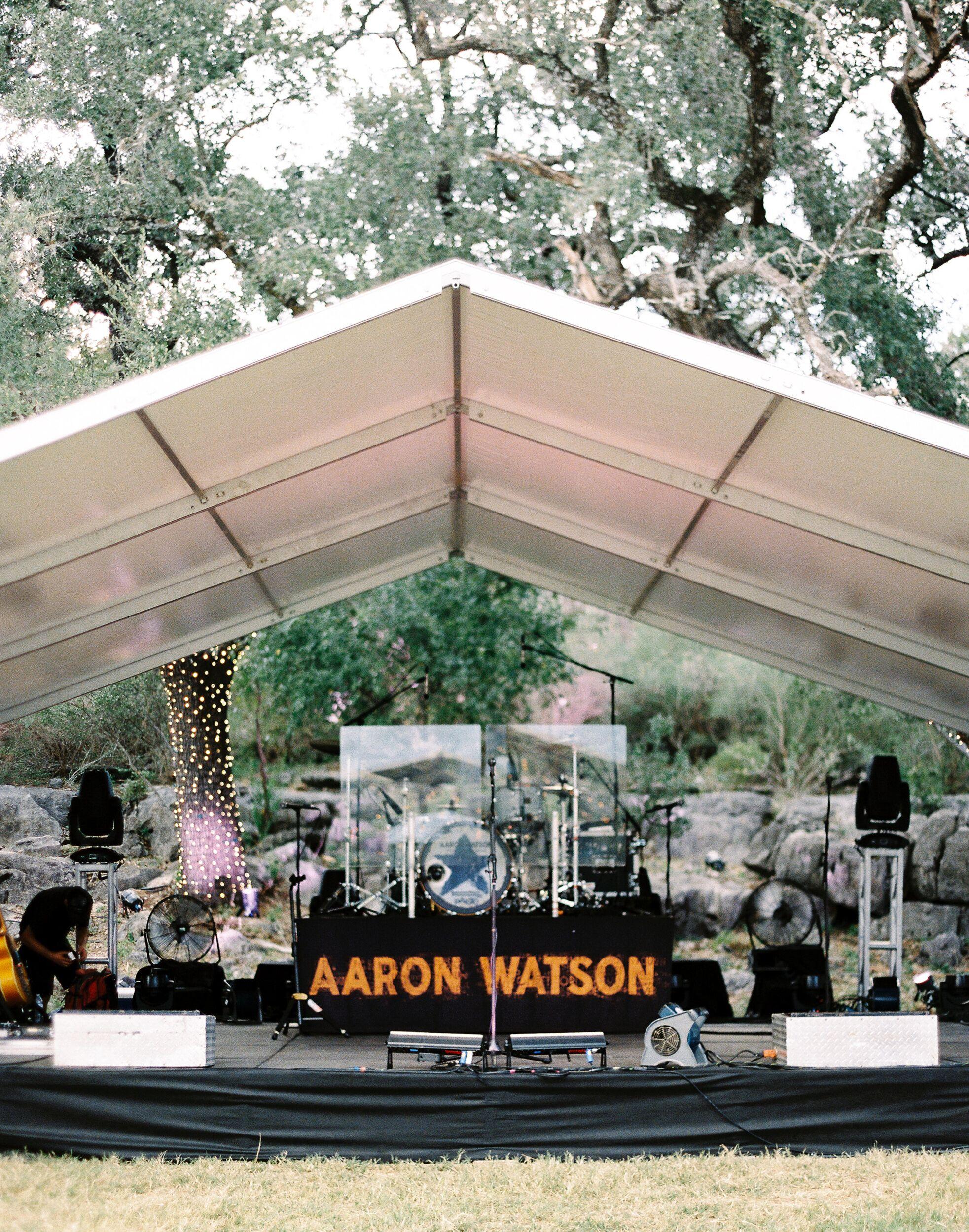 kelsey jacob wedding stage for aaron watson performance