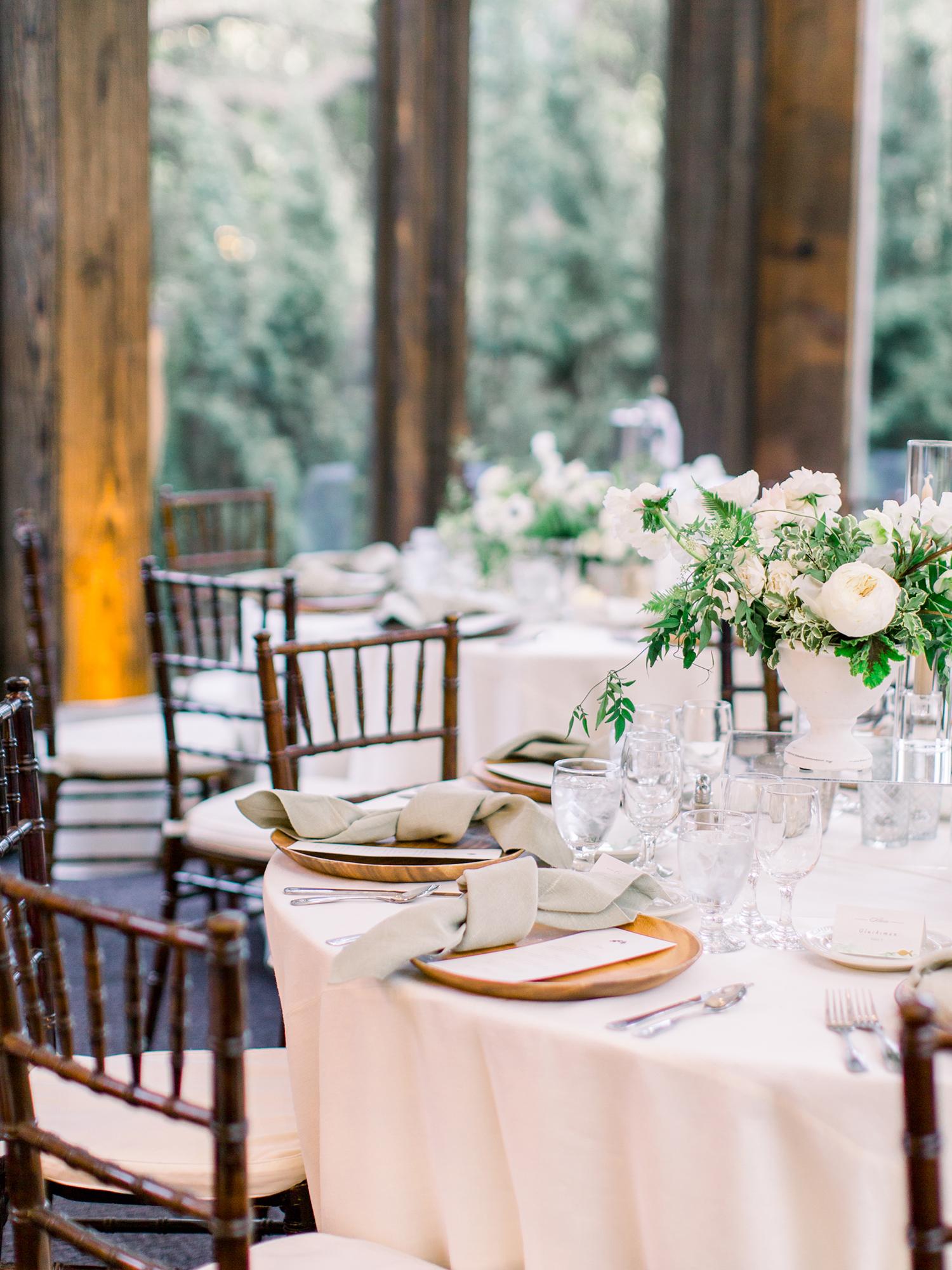 lauren aaron wedding reception tables