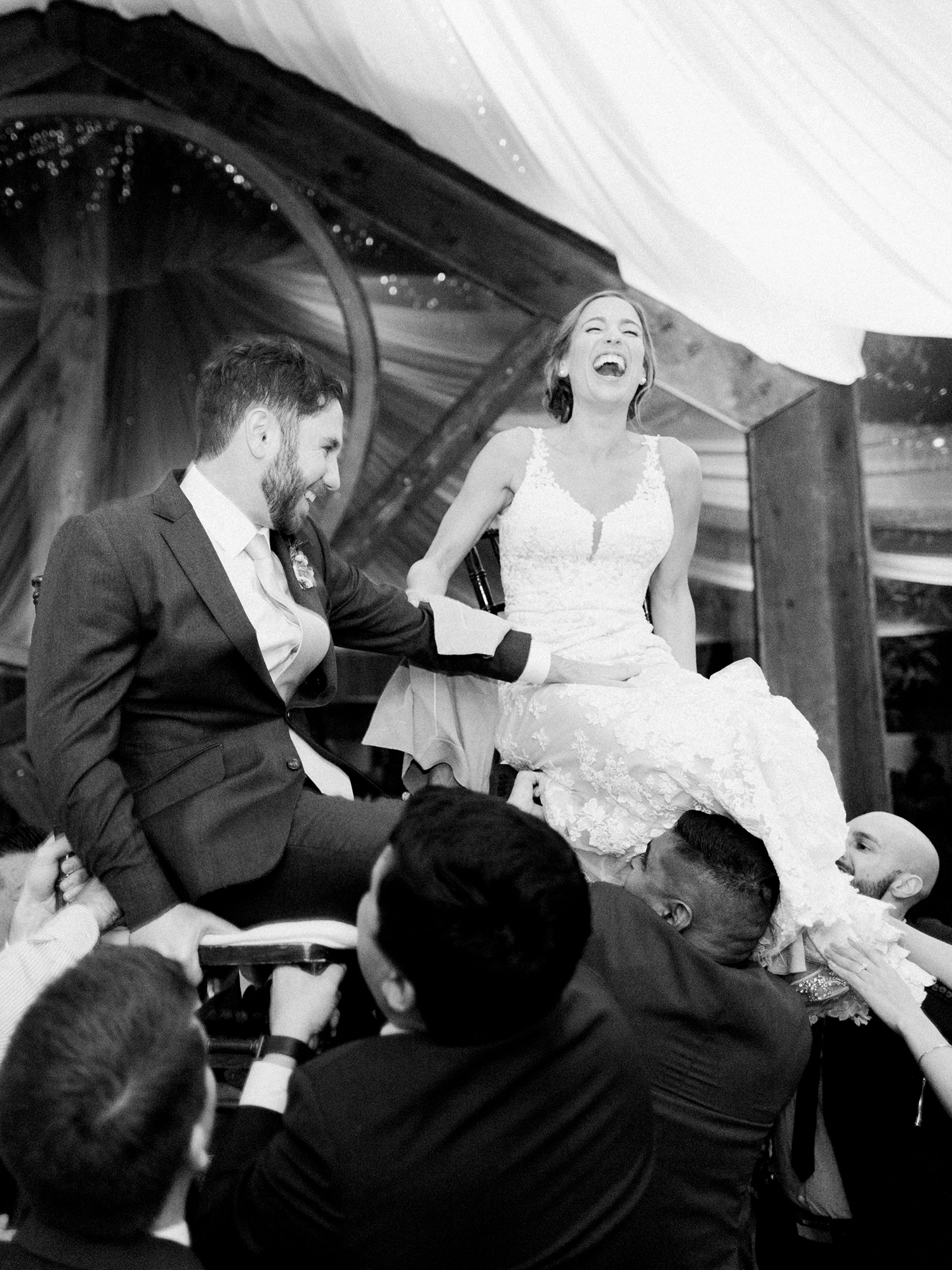 lauren aaron wedding bride and groom hora
