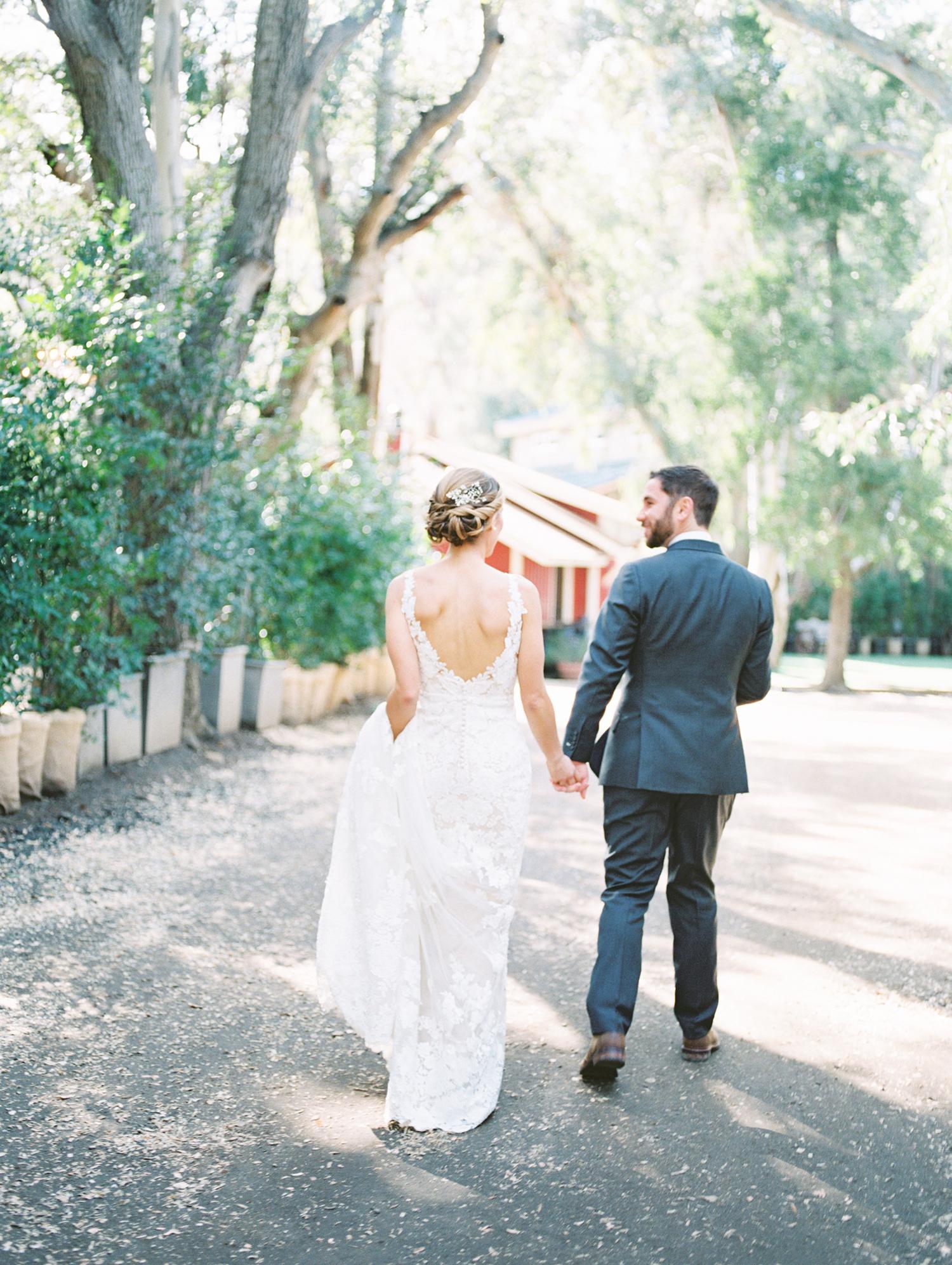 lauren aaron wedding couple walking