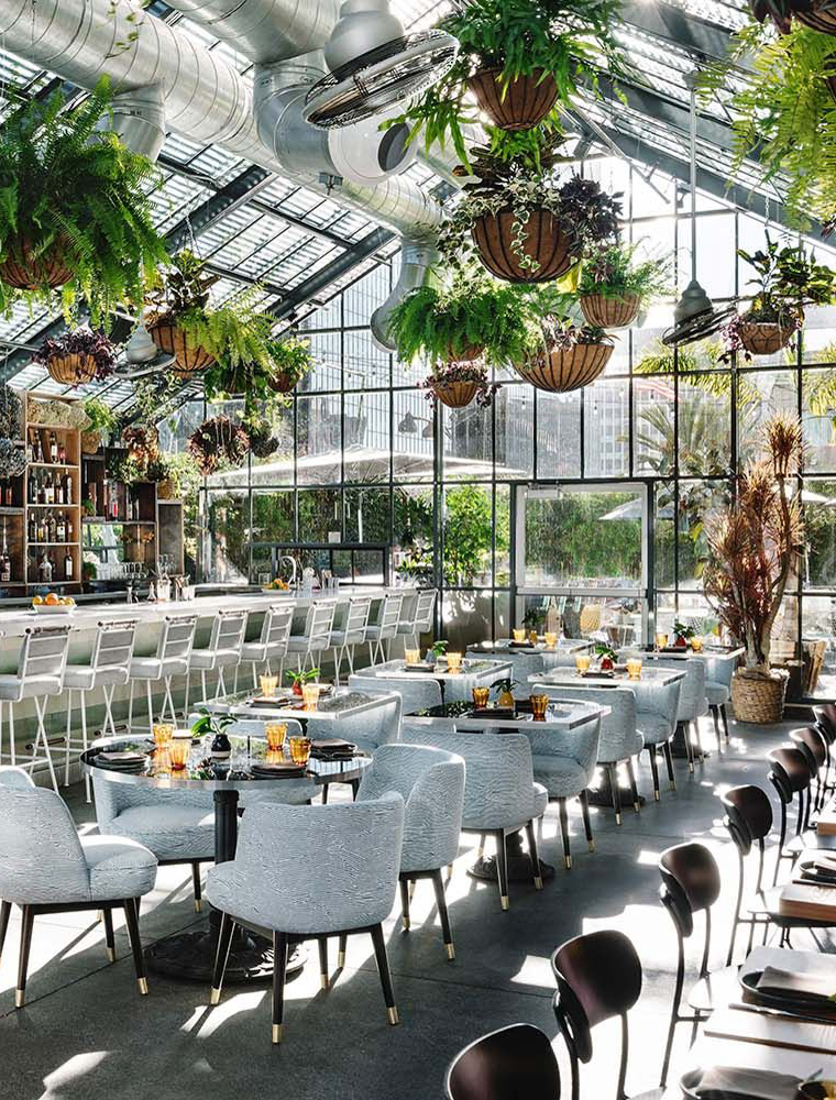 Openaire rooftop glass greenhouse