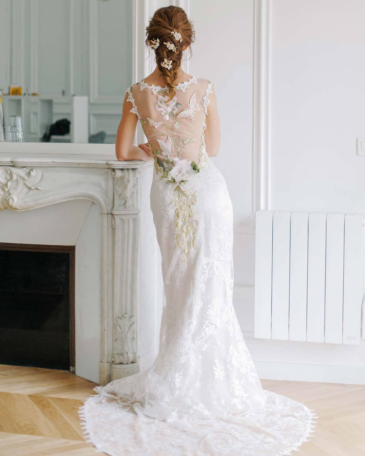 "Claire Pettibone ""Papillon"" Wedding Dress"