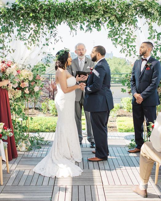 nishea and anthony wedding couple during ceremony