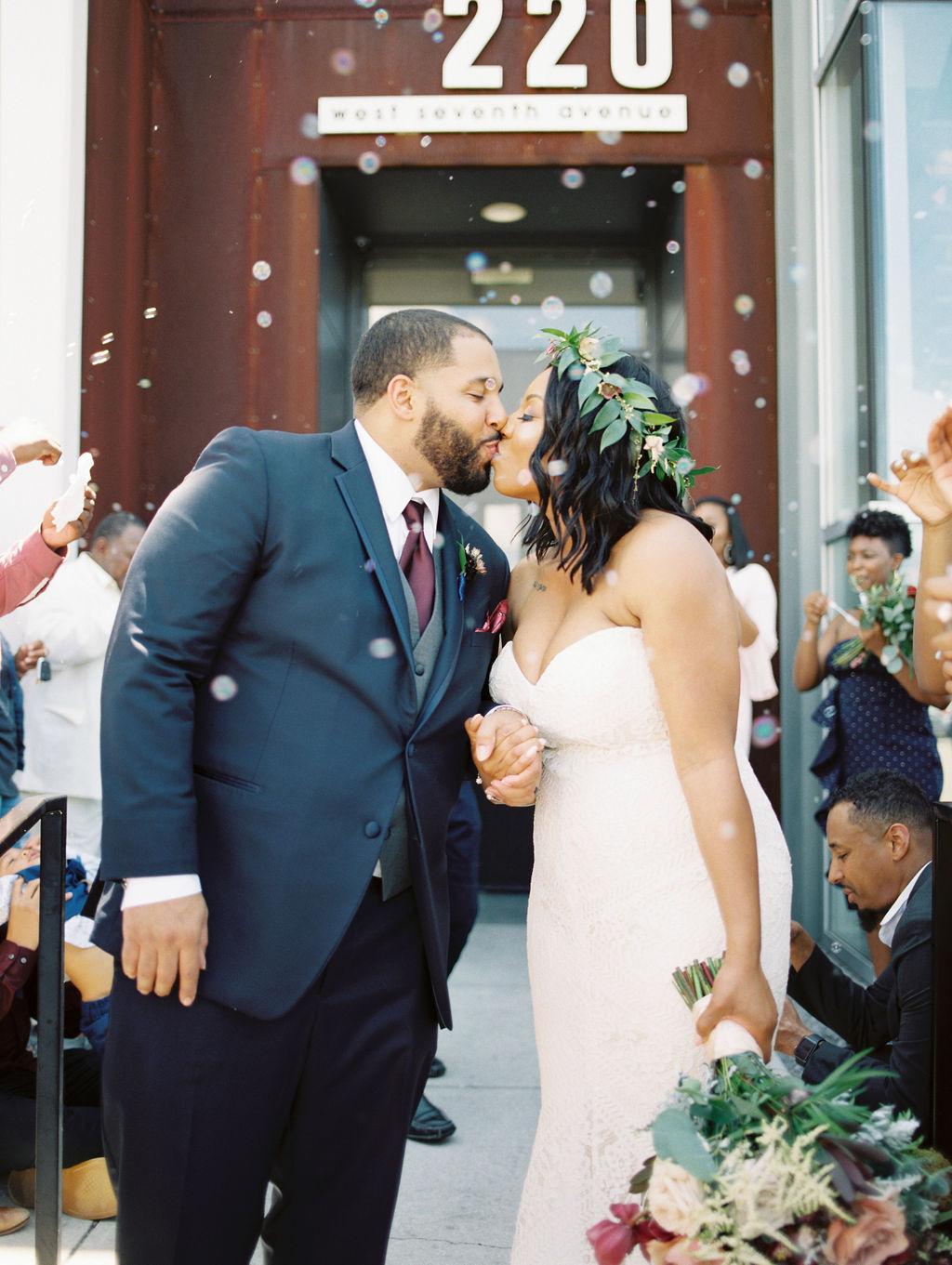 nishea and anthony wedding exit