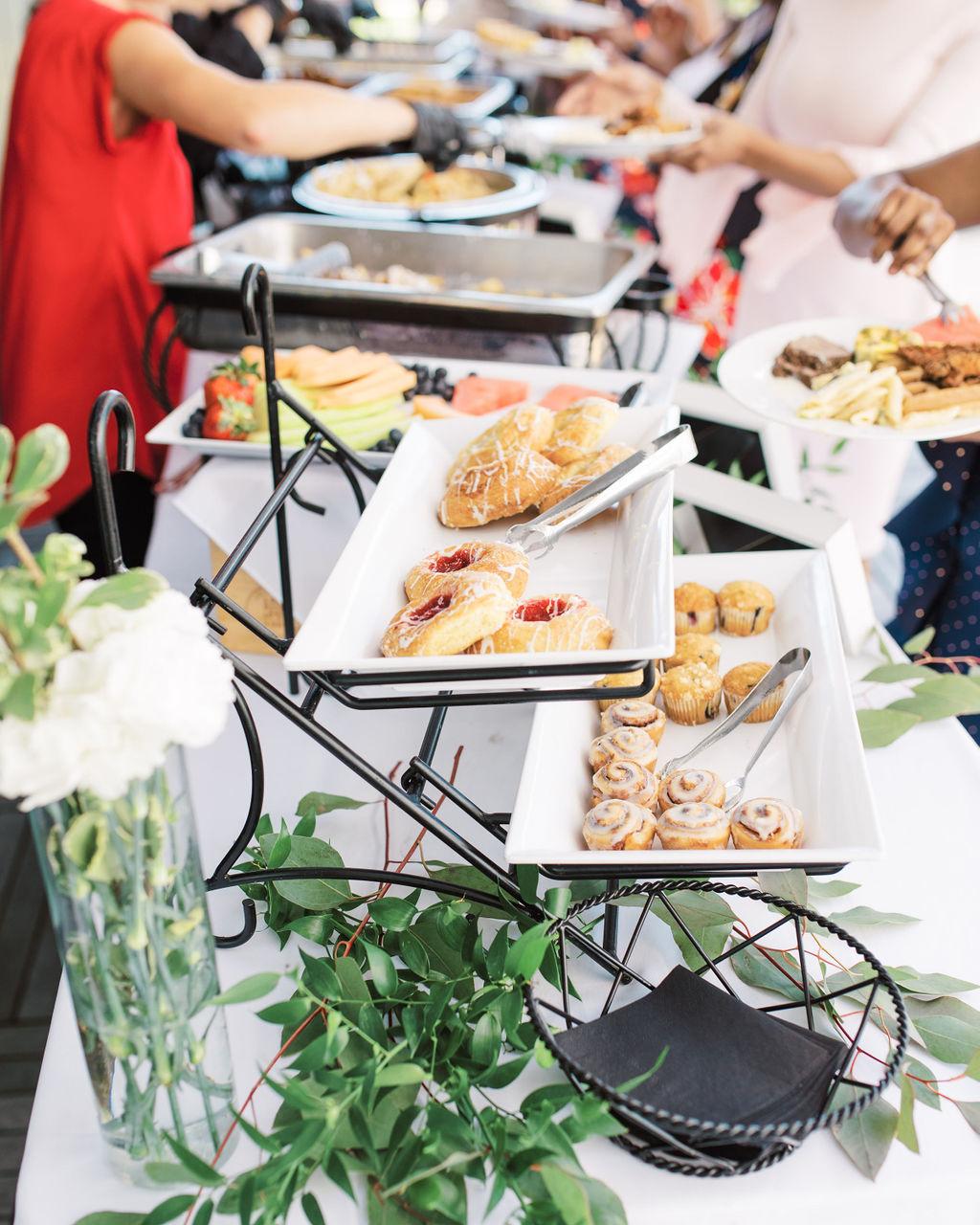 nishea and anthony wedding food