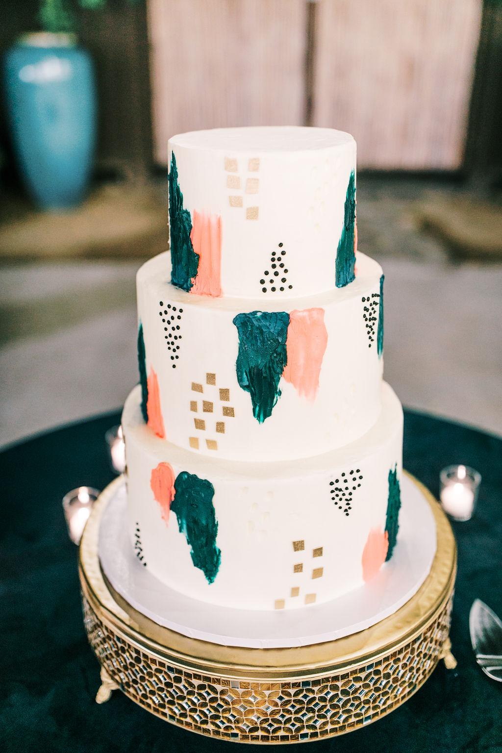 meagan robert wedding cake modern patterns