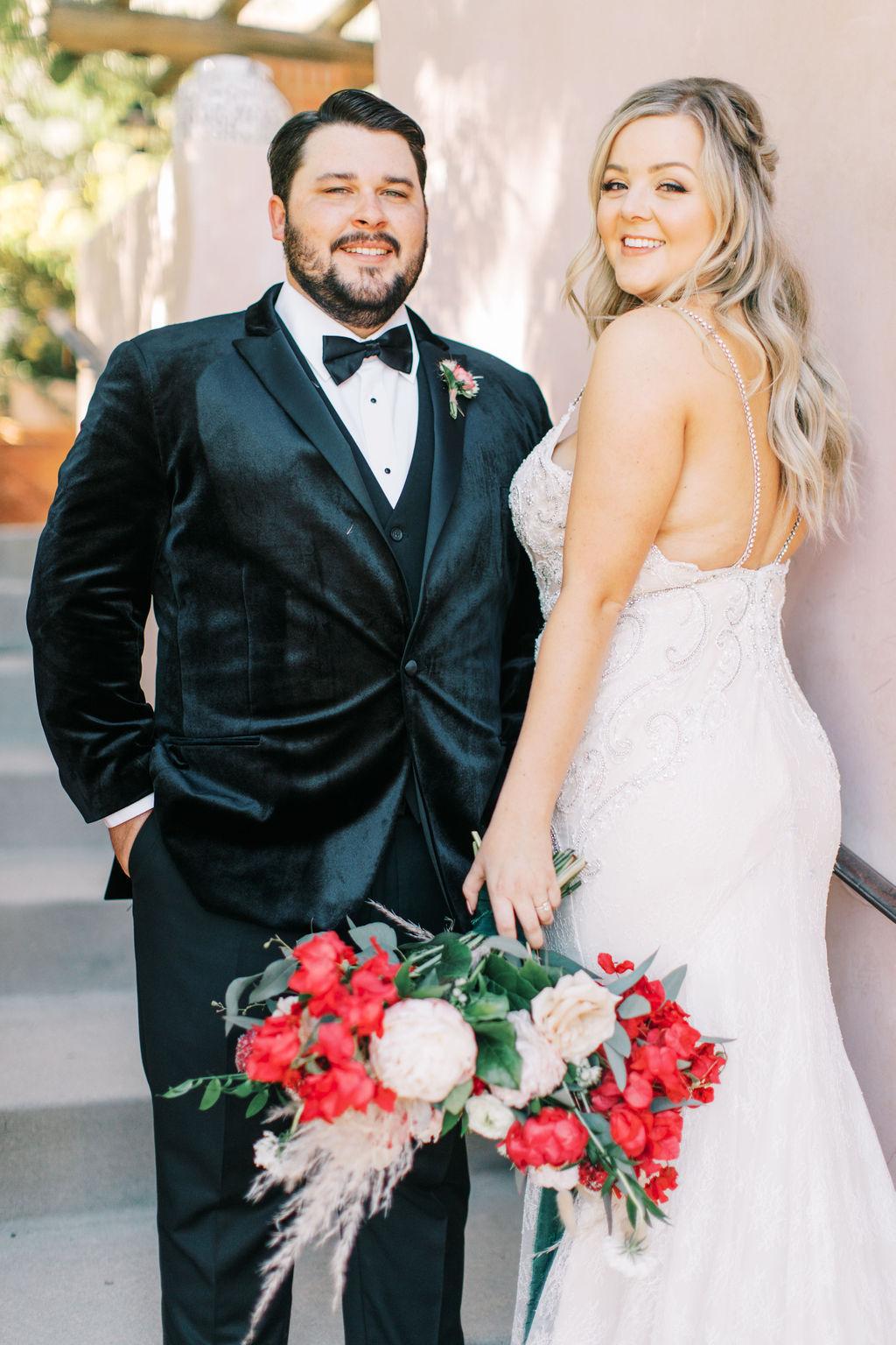 meagan robert wedding bride and groom