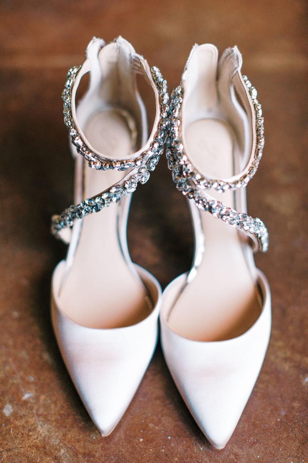 meagan robert bride's wedding shoes