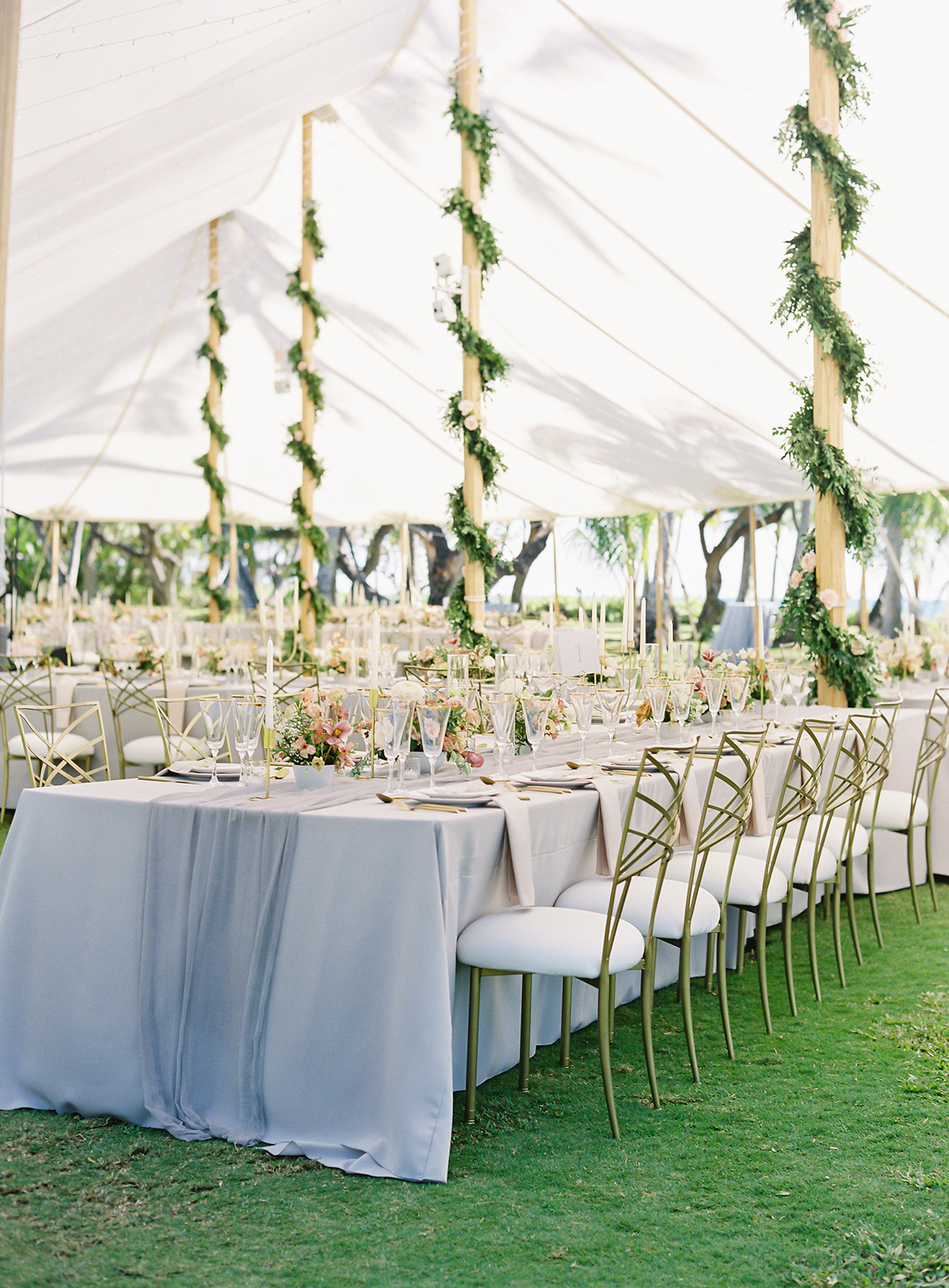 azuki sam wedding reception tables under tent