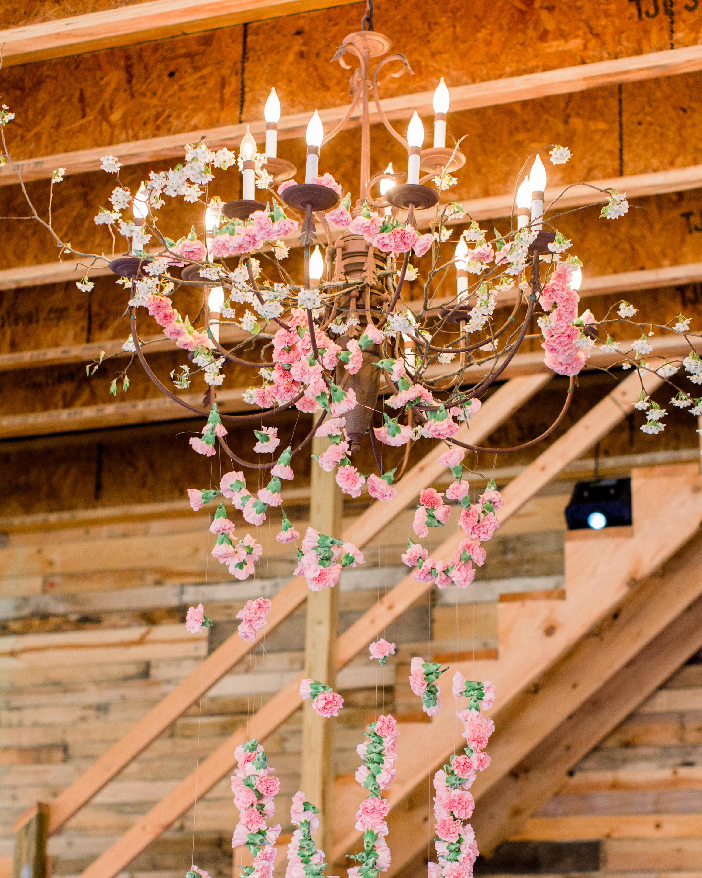 michelle nathan wedding flower chandelier