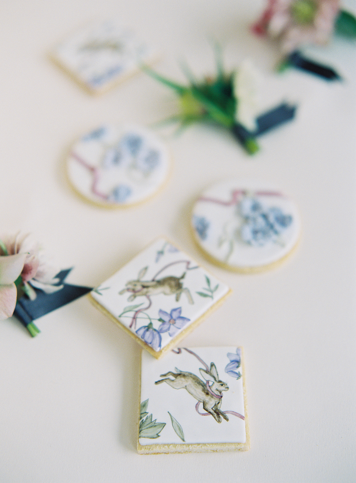 jackie ben wedding painted cookies