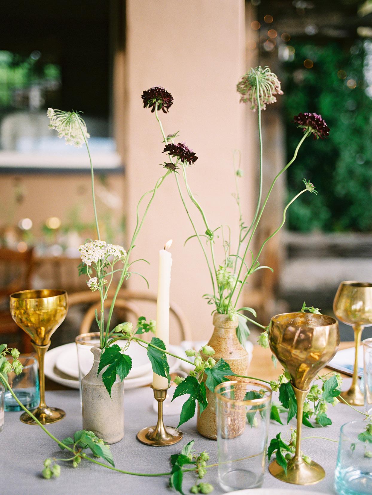 christy kyle surprise wedding reception ikebana centerpieces