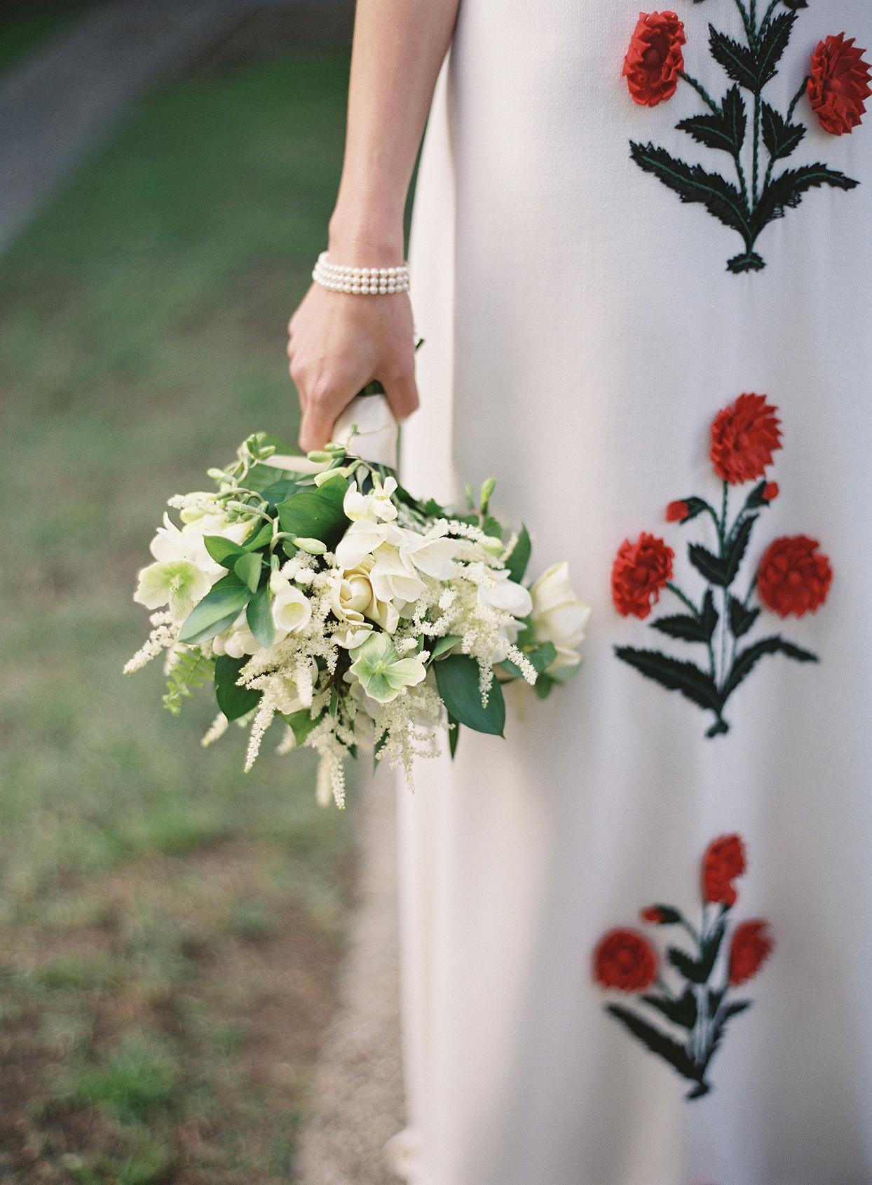 beverly steve bride's white wedding bouquet