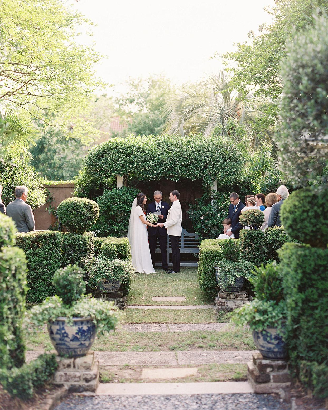 beverly steve wedding ceremony in garden