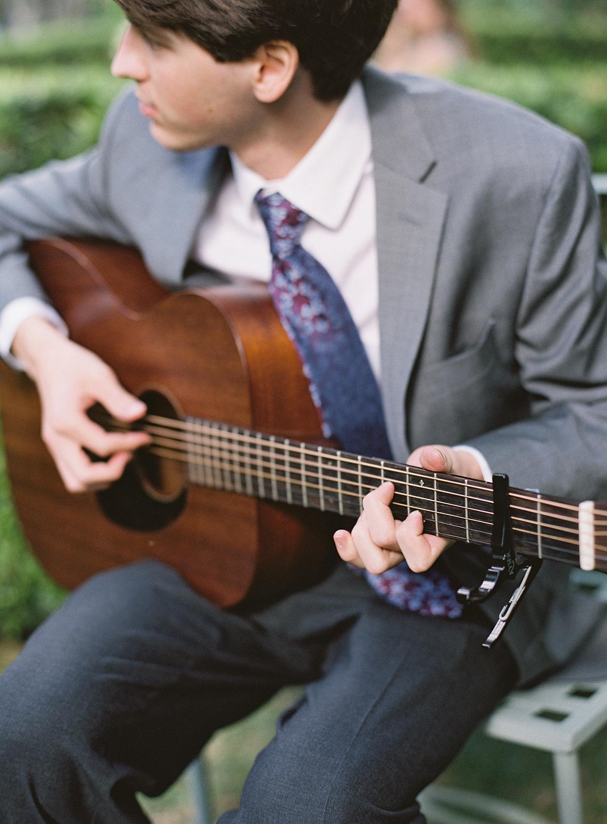 beverly steve wedding musician playing guitar