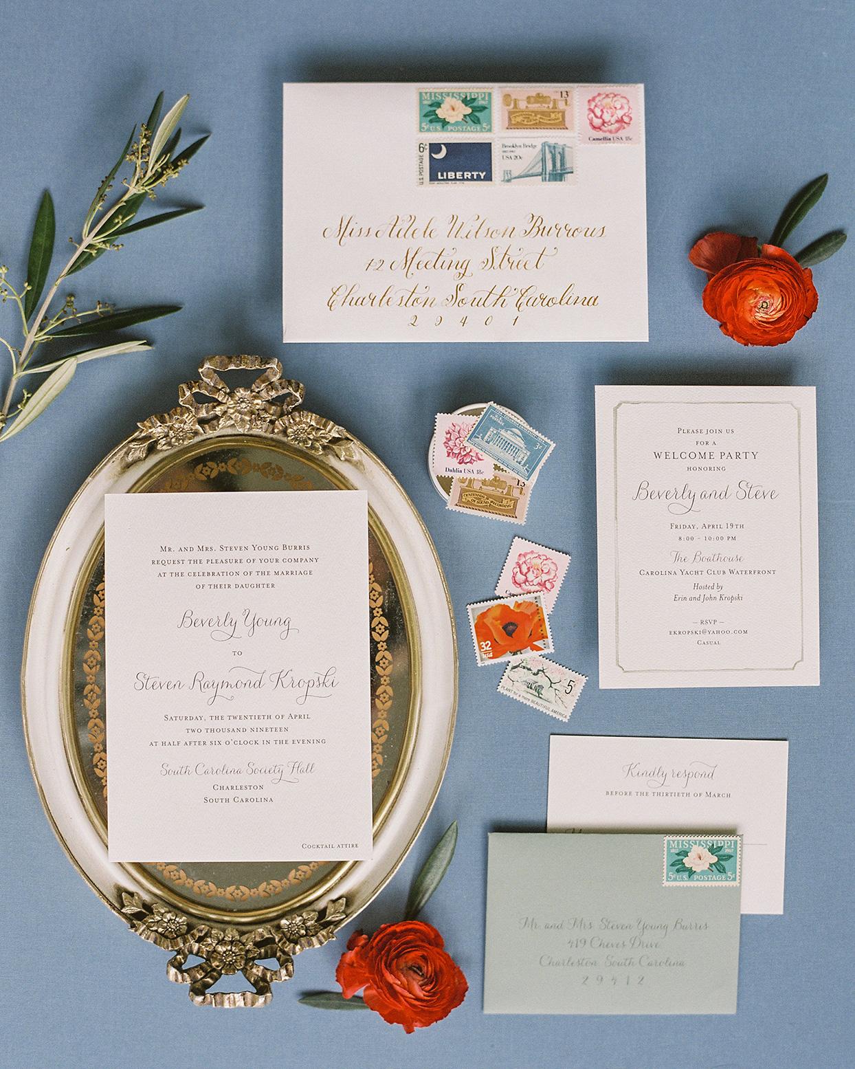 beverly steve ornate wedding invitations