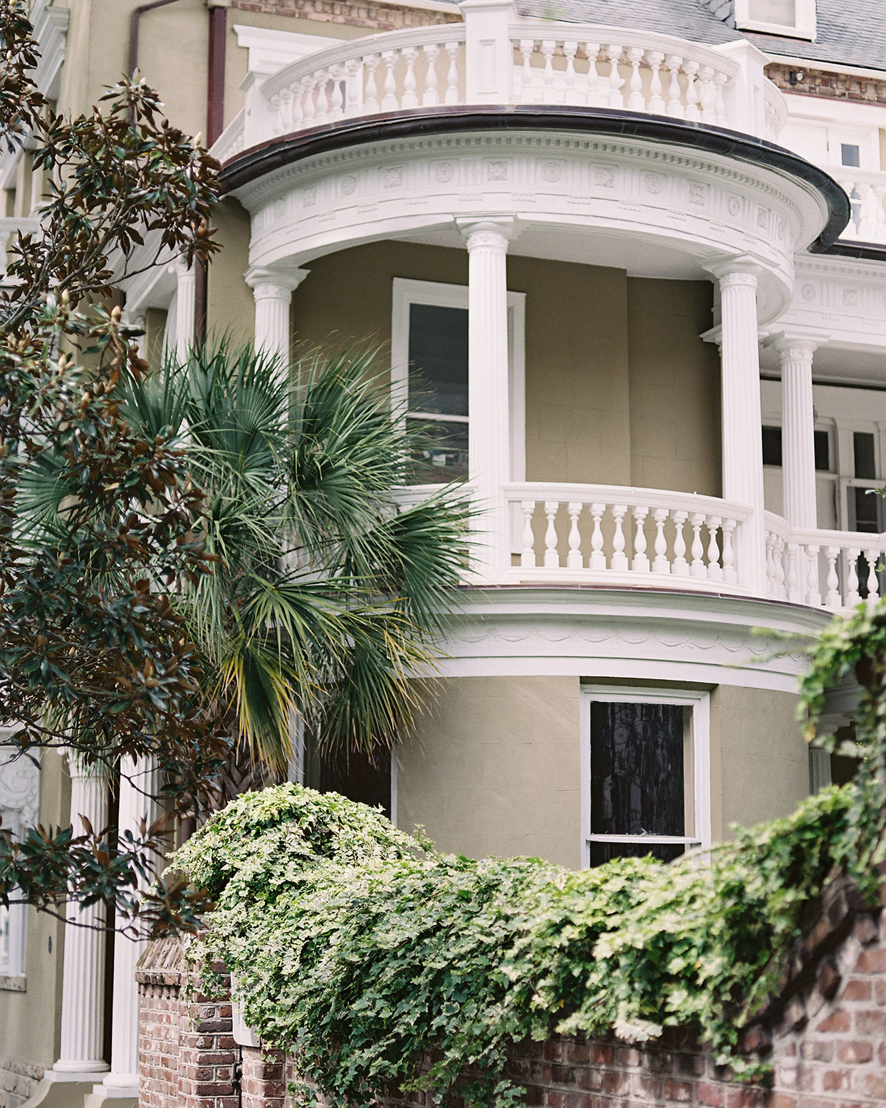 beverly steve wedding venue balcony with greenery