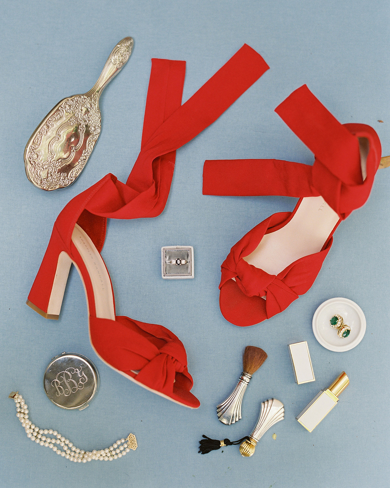 beverly steve bride's accessories bright red shoes