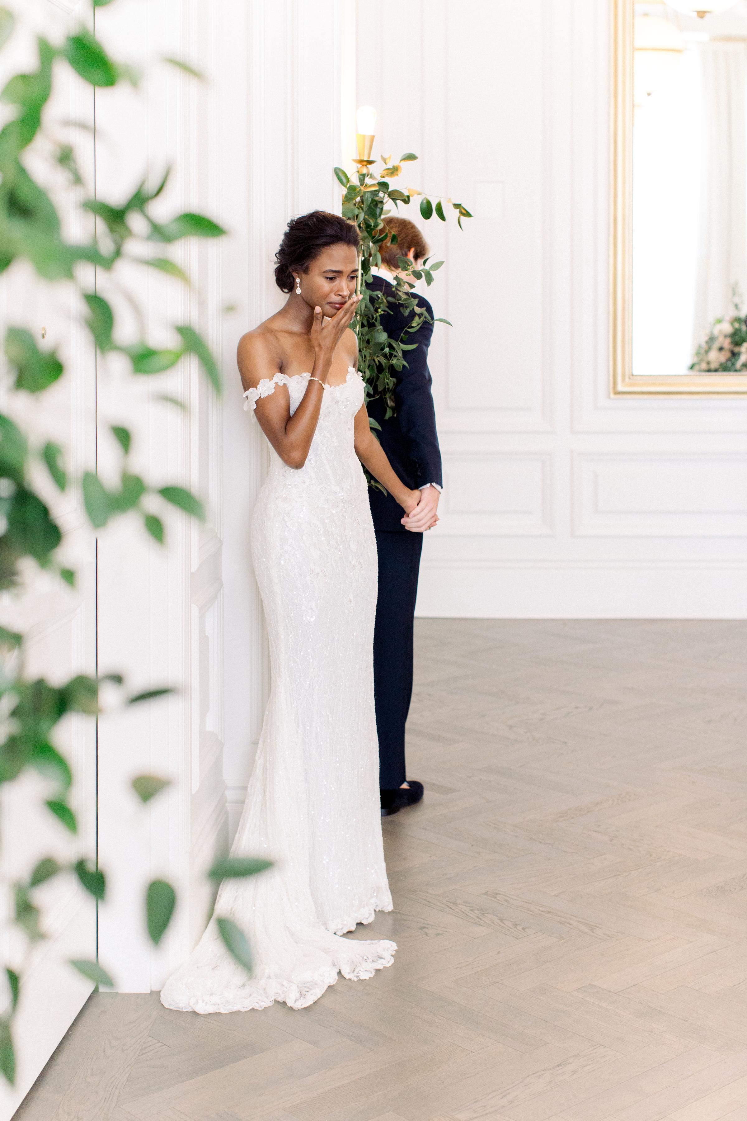 olivia collin wedding couple first look