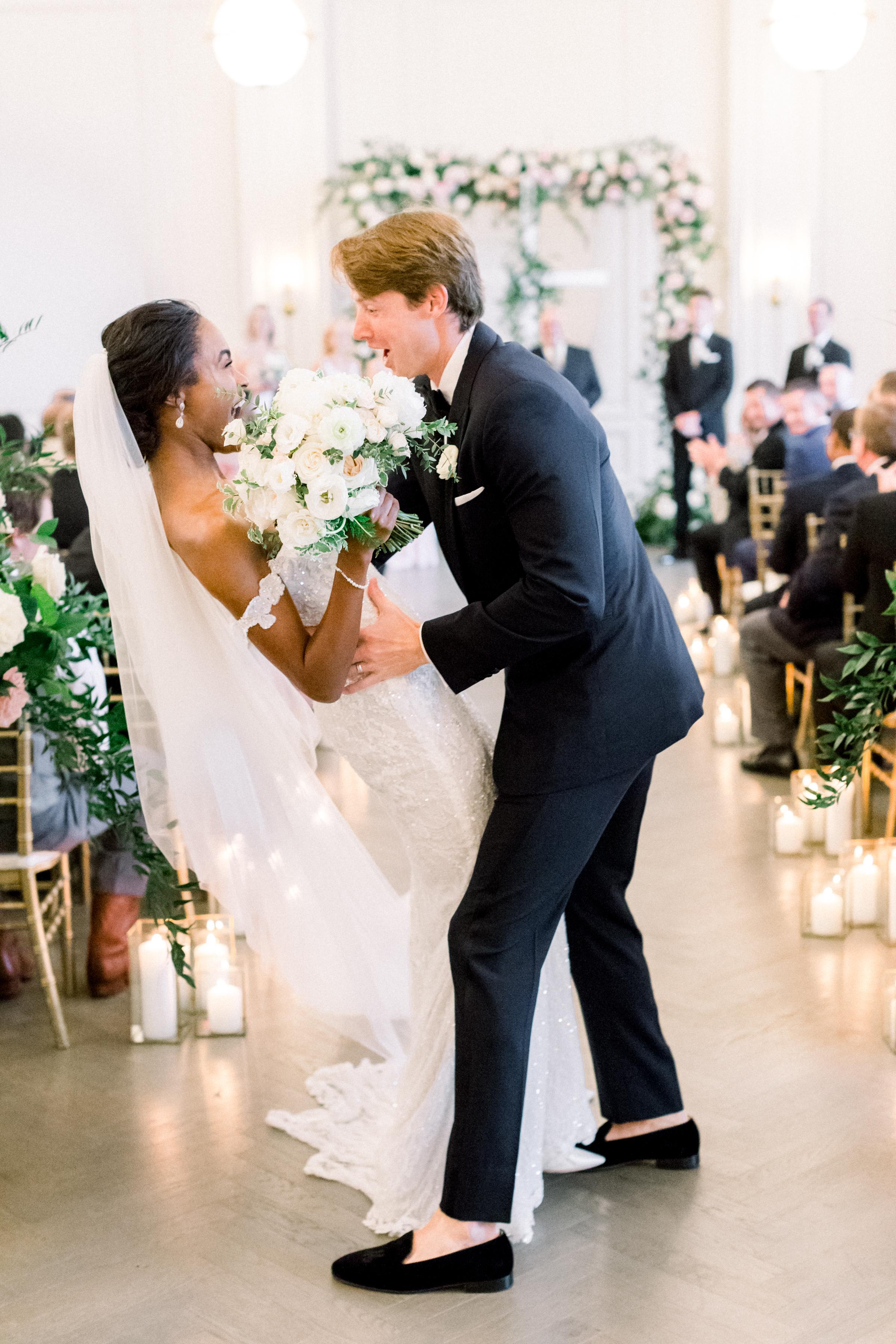 olivia collin wedding couple recessional